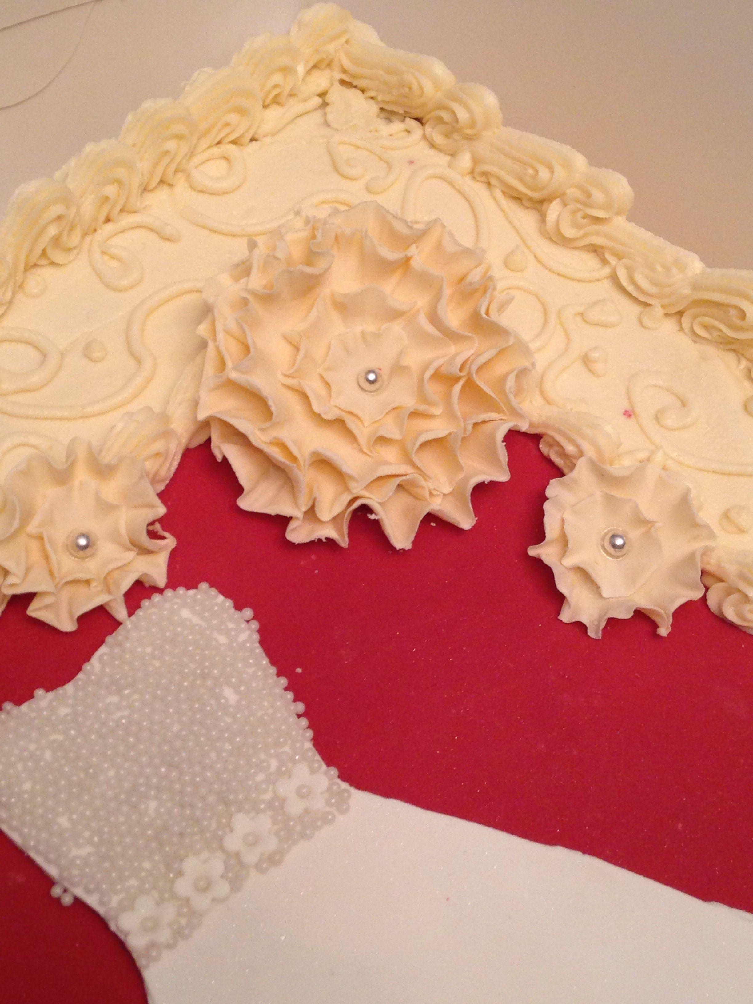 Bridal Shower Cake Red Velvet Cake And Cream Cheese Icing