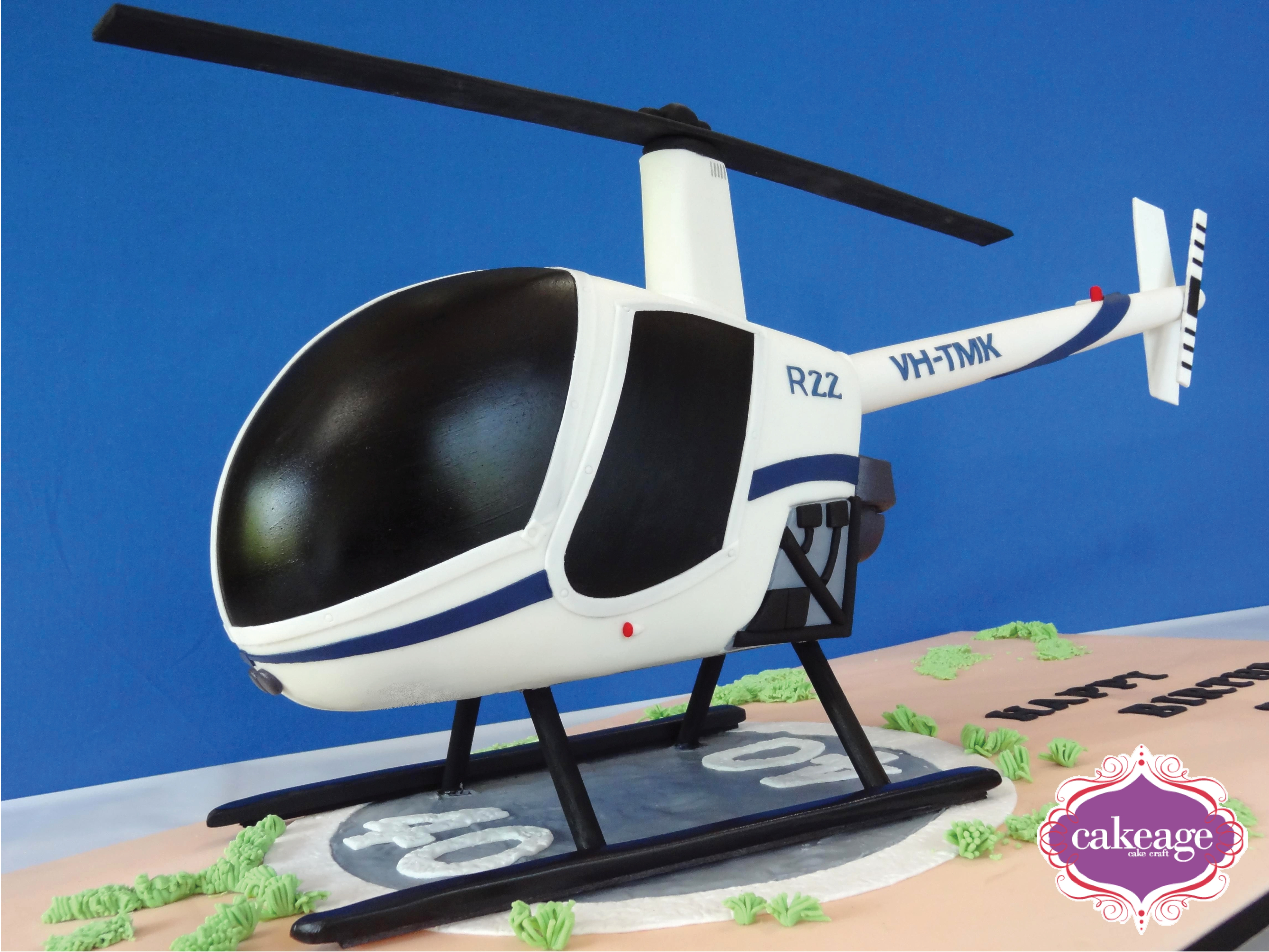 how to make a helicopter cake