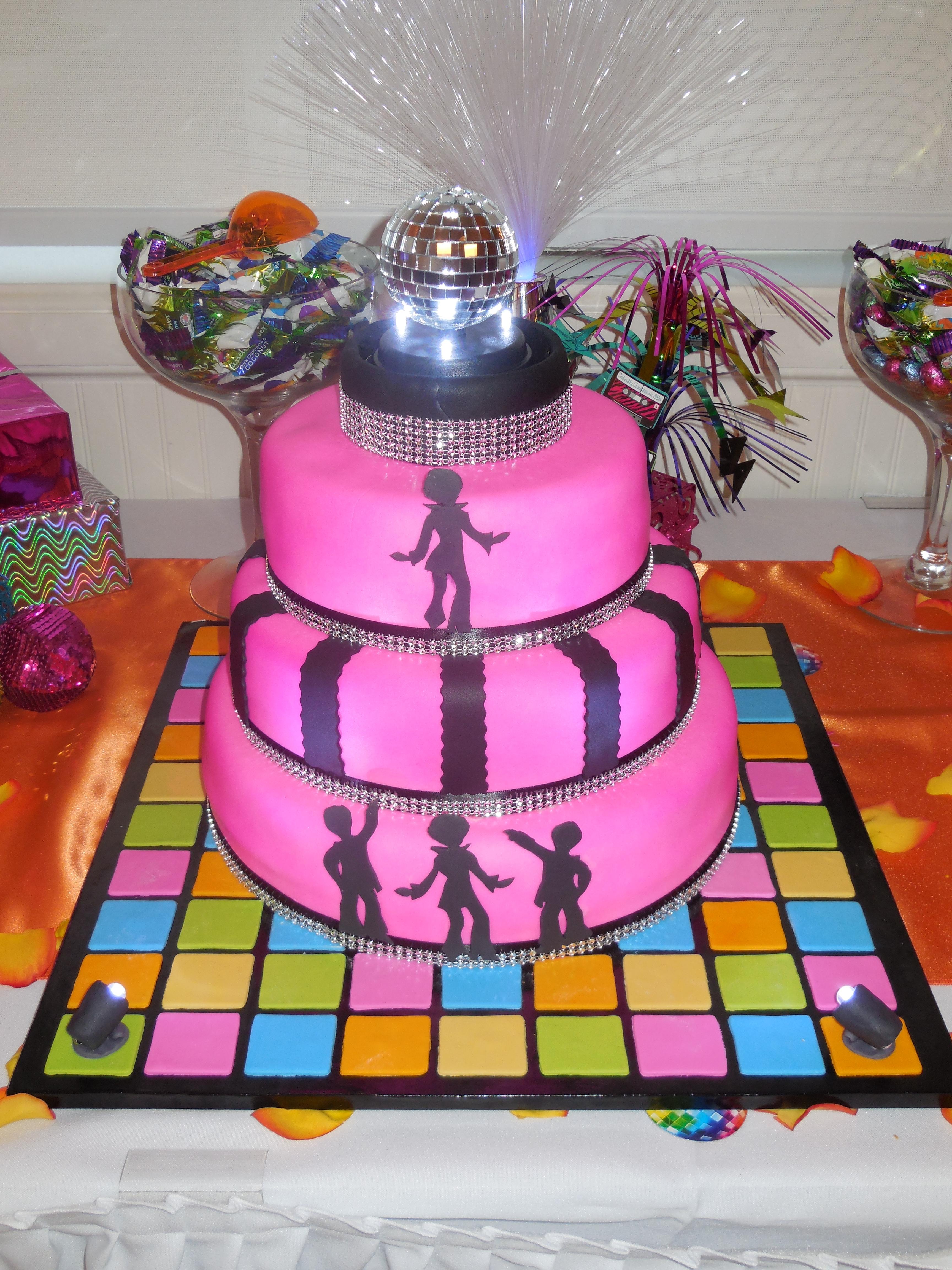 Disco Party Cake Images : 70 s Disco Party Cake - CakeCentral.com