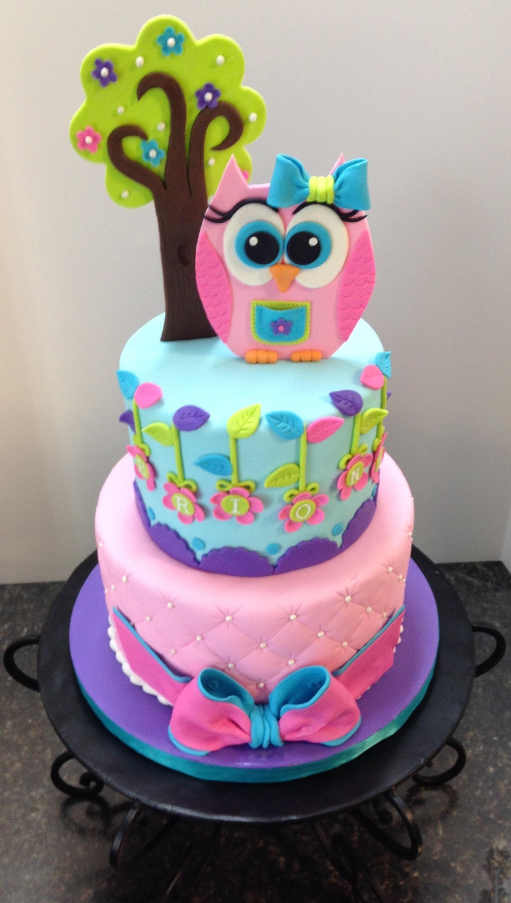 Owl Birthday Cake Cakecentral Com