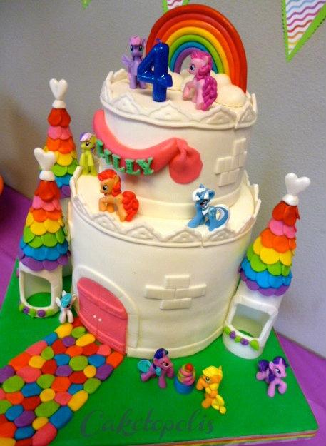 My Little Pony Rainbow Castle Cake Cakecentral Com