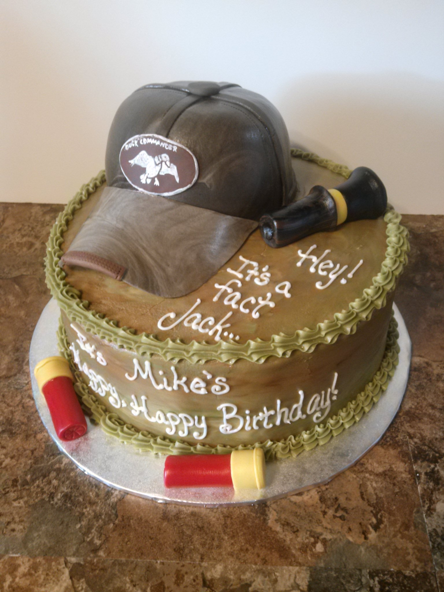 Ducky Commander first birthday cake set... All edible
