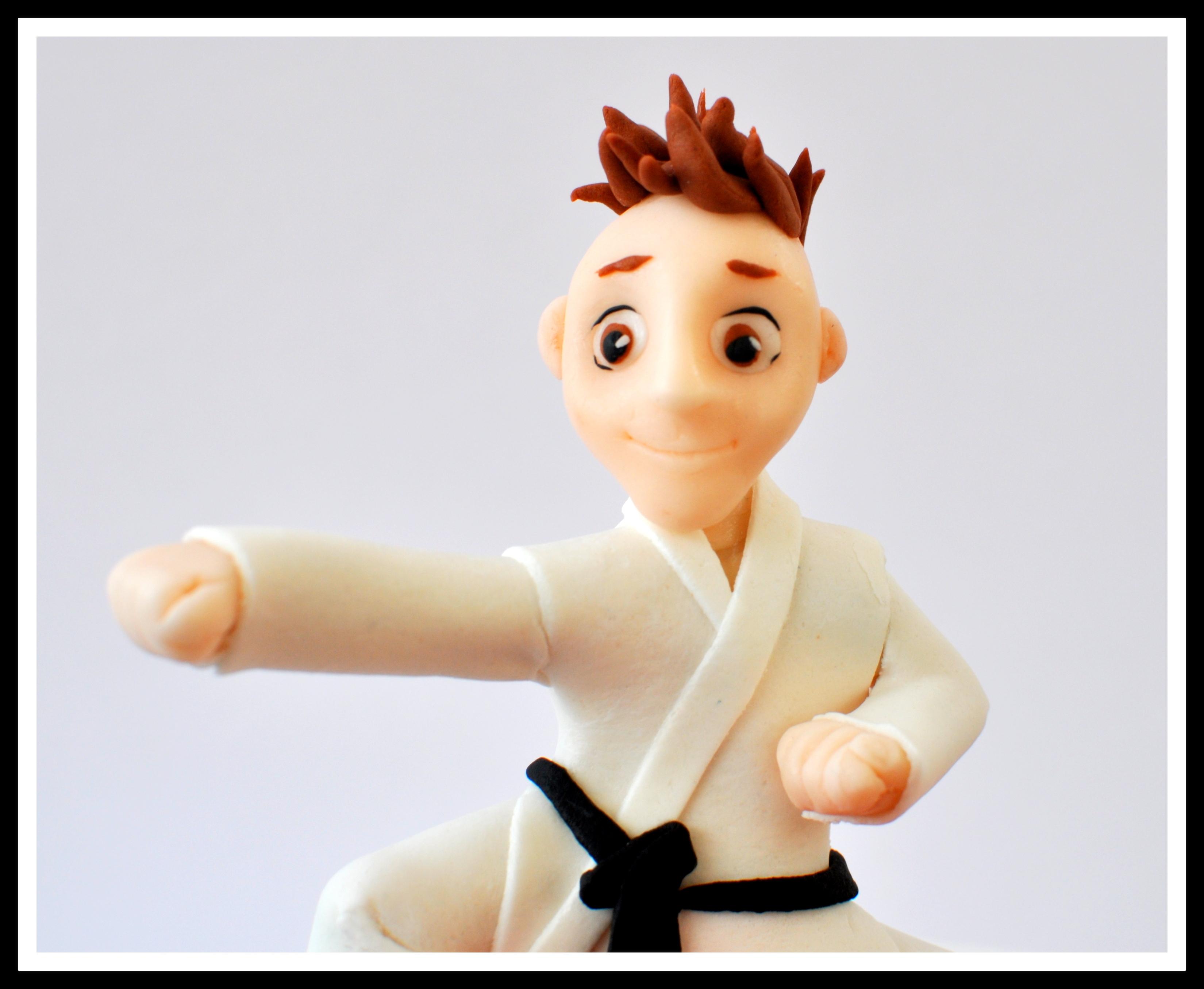 Karate Cake Topper Tutorial