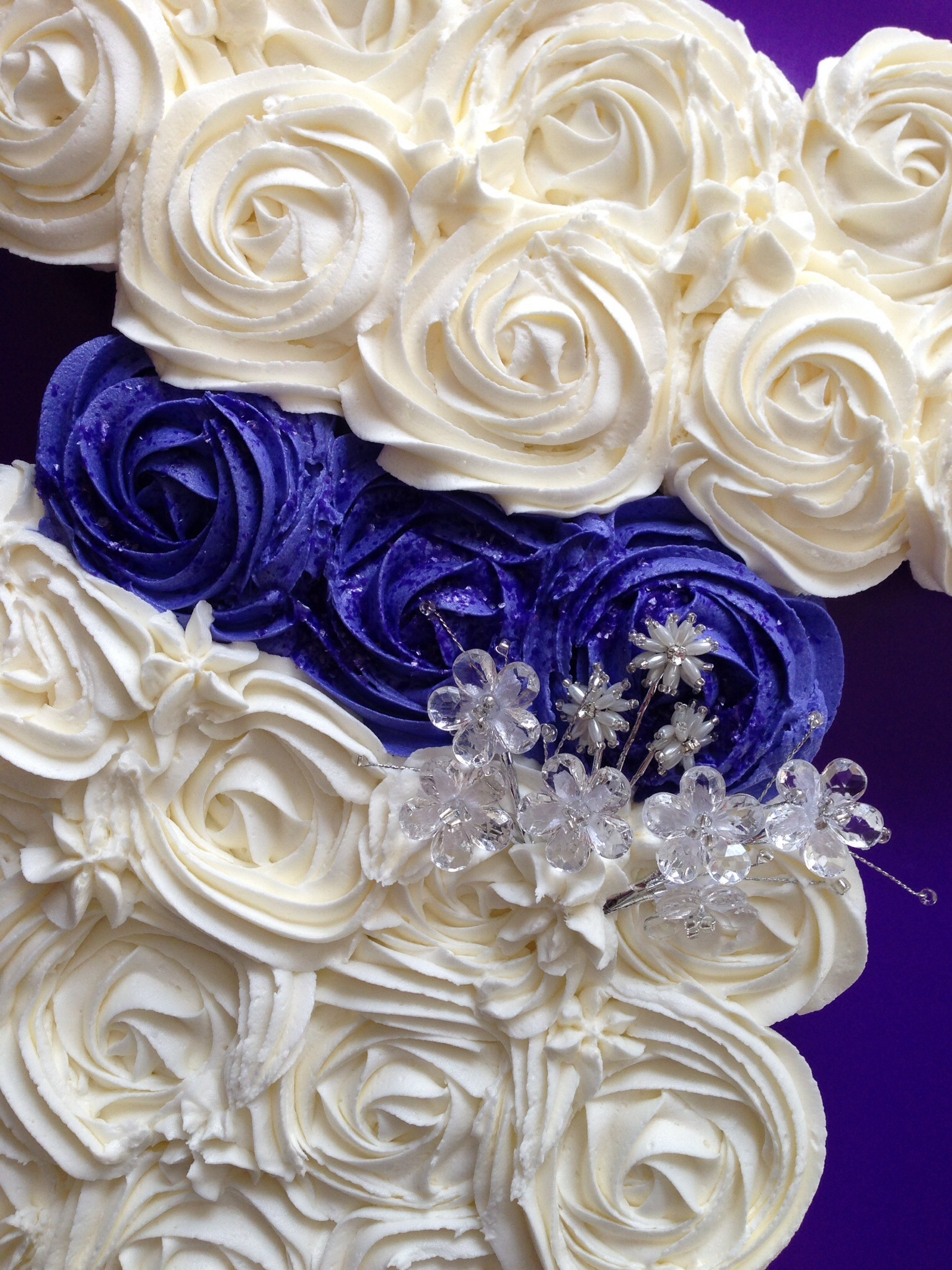 Bridal Shower Cake Made Out Of Cupcakes In The Shape Of A ...