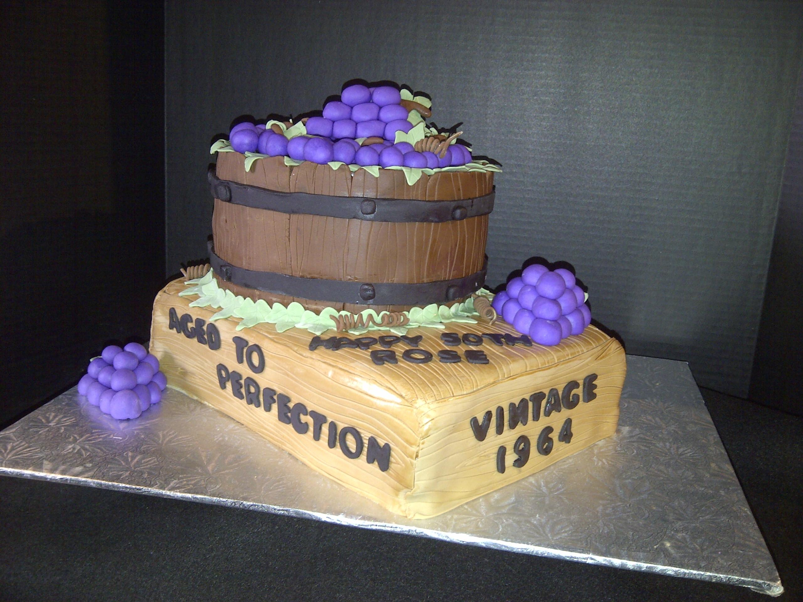 Enjoyable Wine And Grapes Themed Birthday Cake Cakecentral Com Funny Birthday Cards Online Ioscodamsfinfo