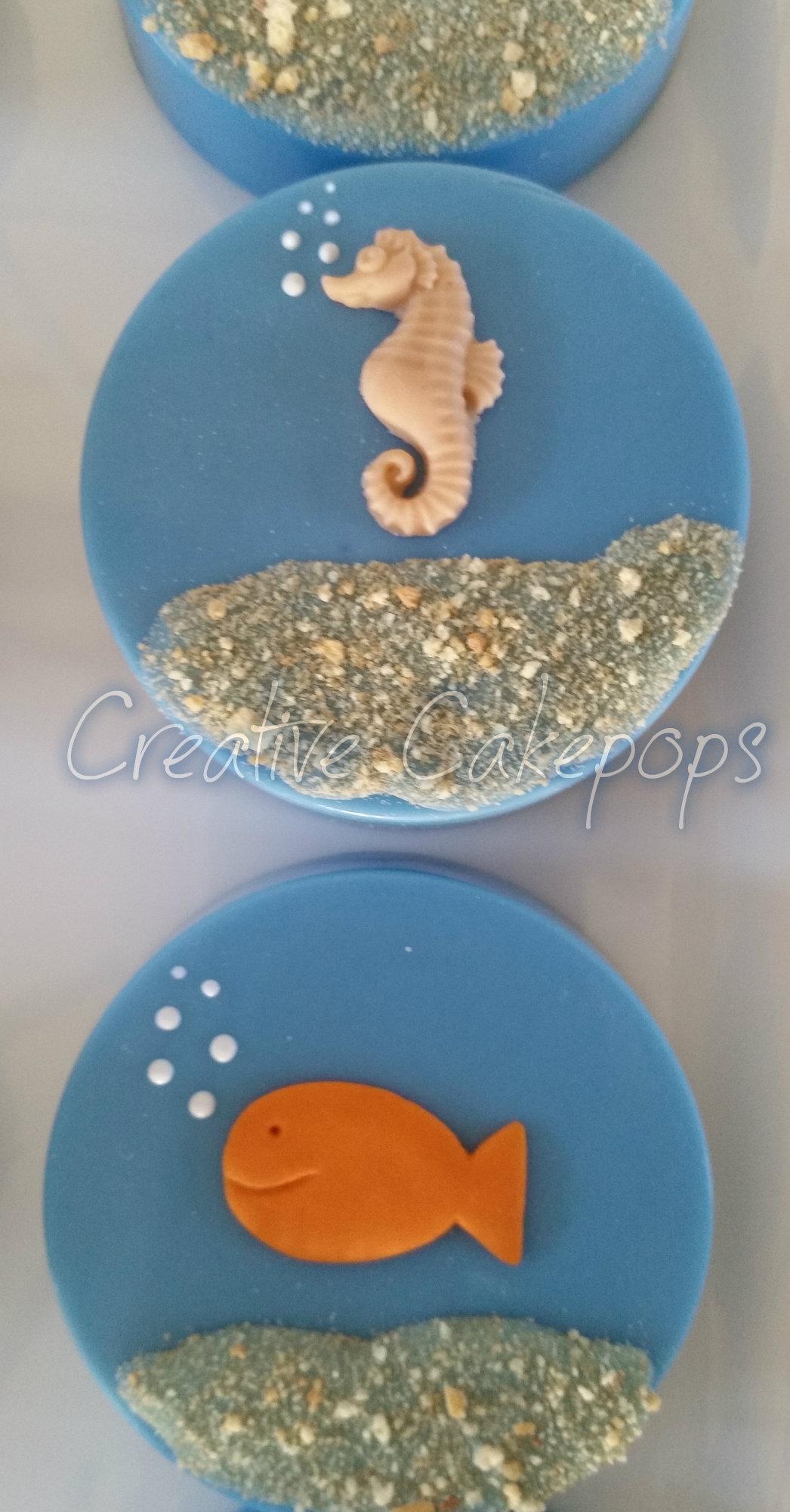 Cake Pops Chocolate Dipped Oreos And A Fish Cupcake Cake