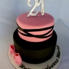 Pink And Black 21st Birthday Cake Cakecentral Com