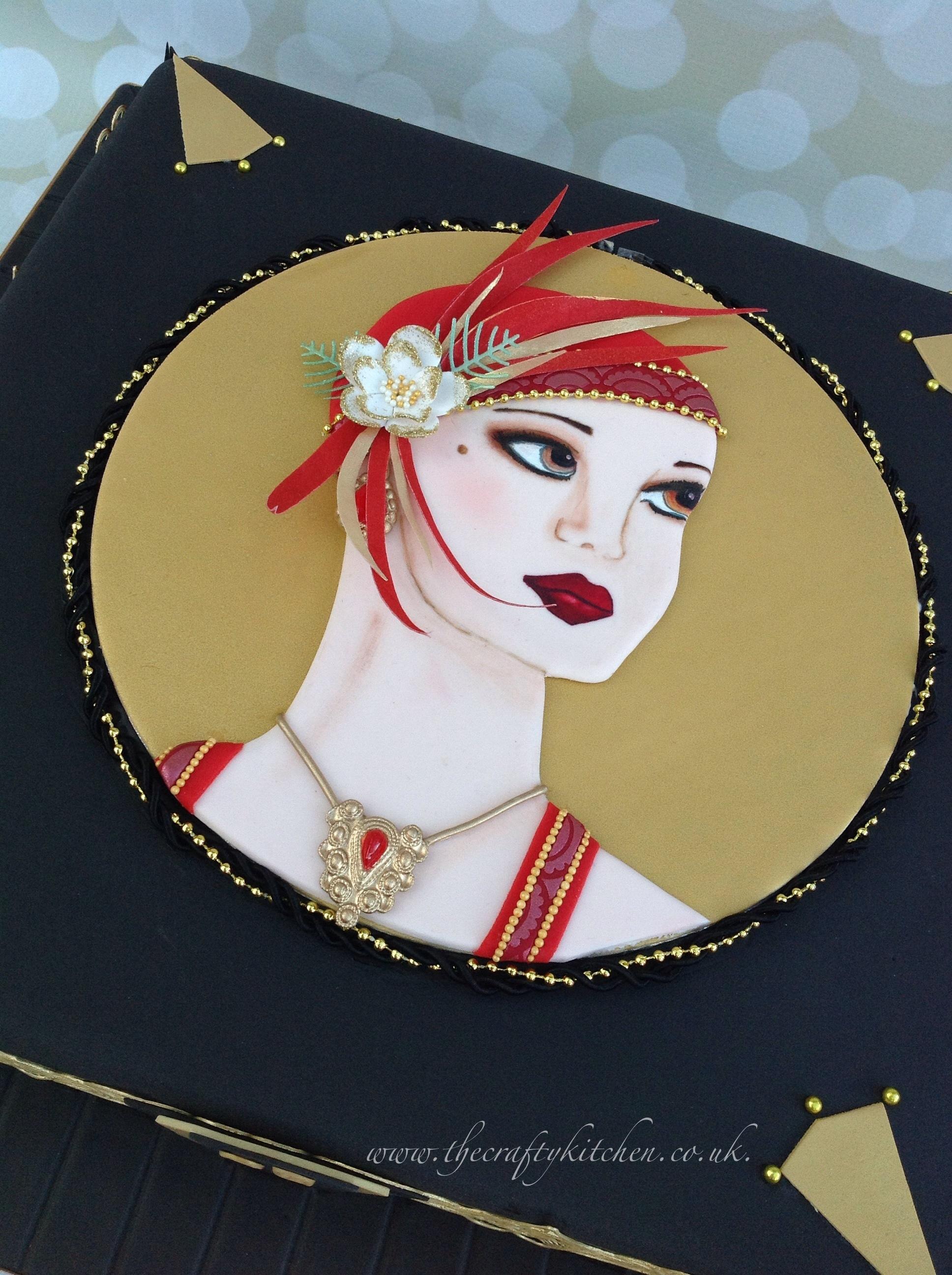 Art Deco Lady Cake : Art Deco Lady - CakeCentral.com