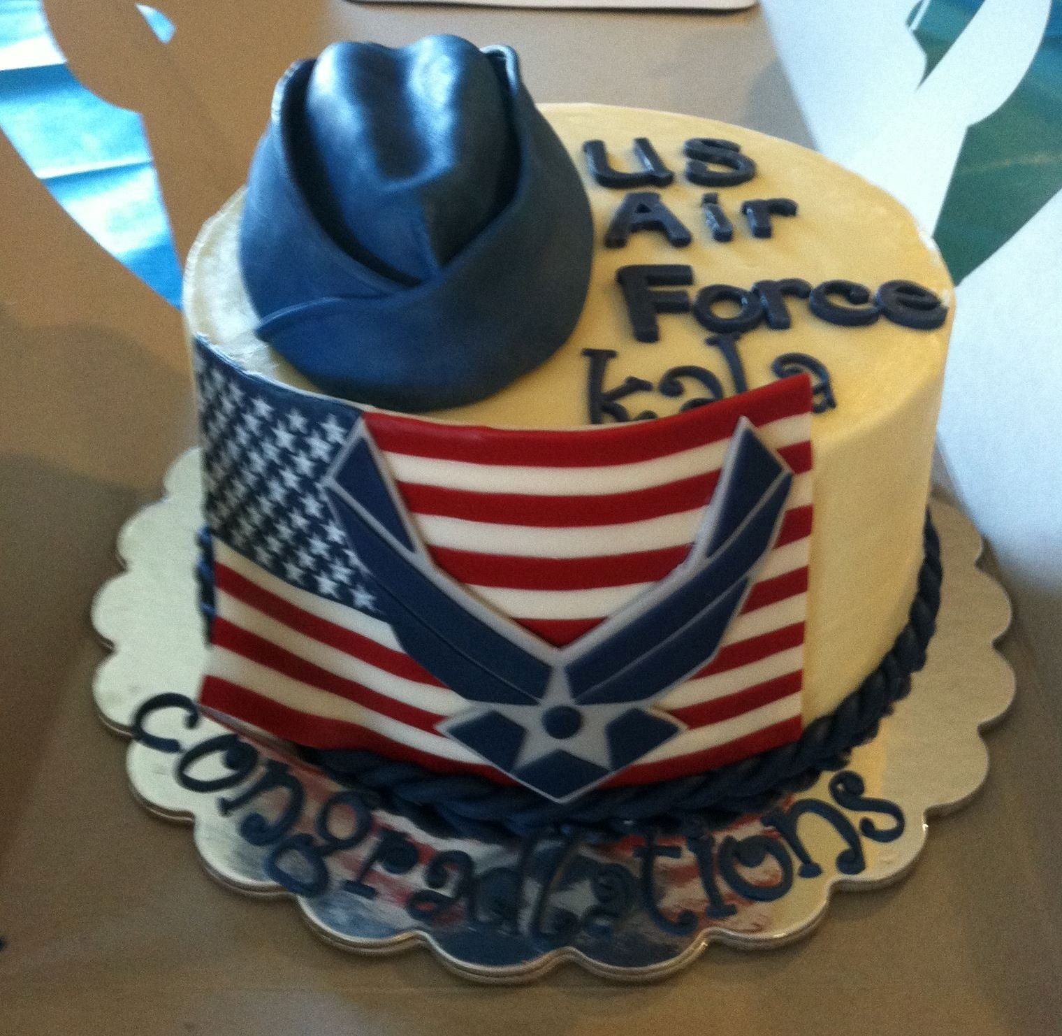 Us air force cake for a friends daughter kayla will be for Air force cakes decoration