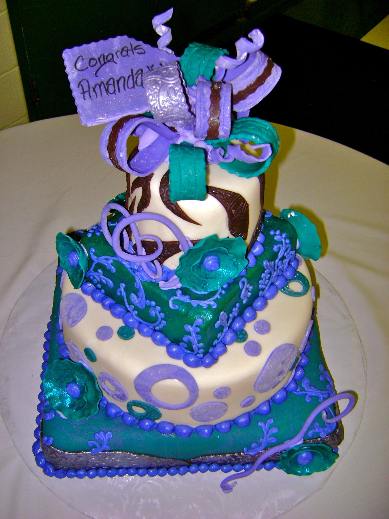 Dental Hygienist Graduation Cake Happy Tooth Cake Tooth