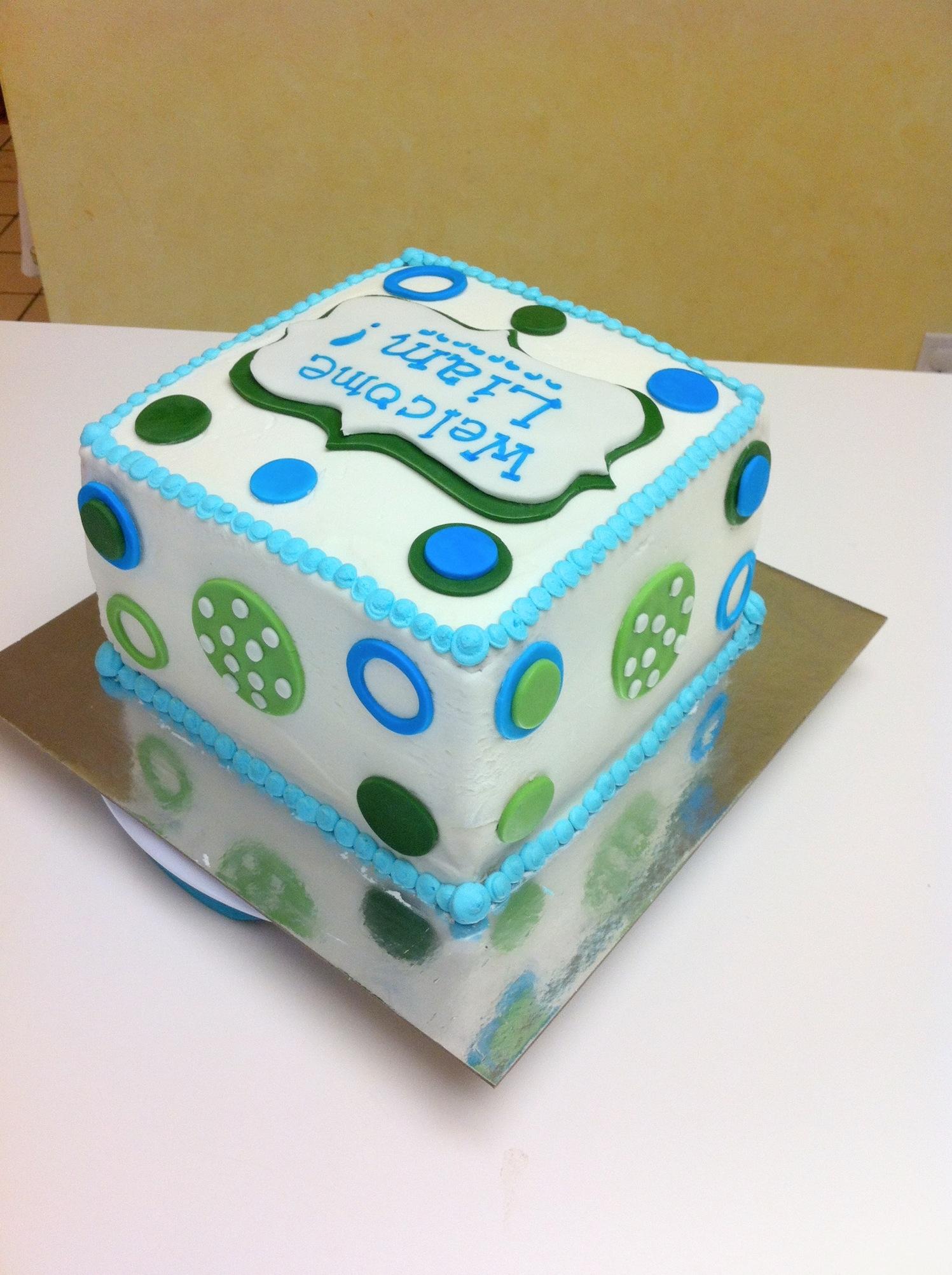 Elephant Themed Baby Shower Cakes ~ Elephant themed baby shower cake cakecentral
