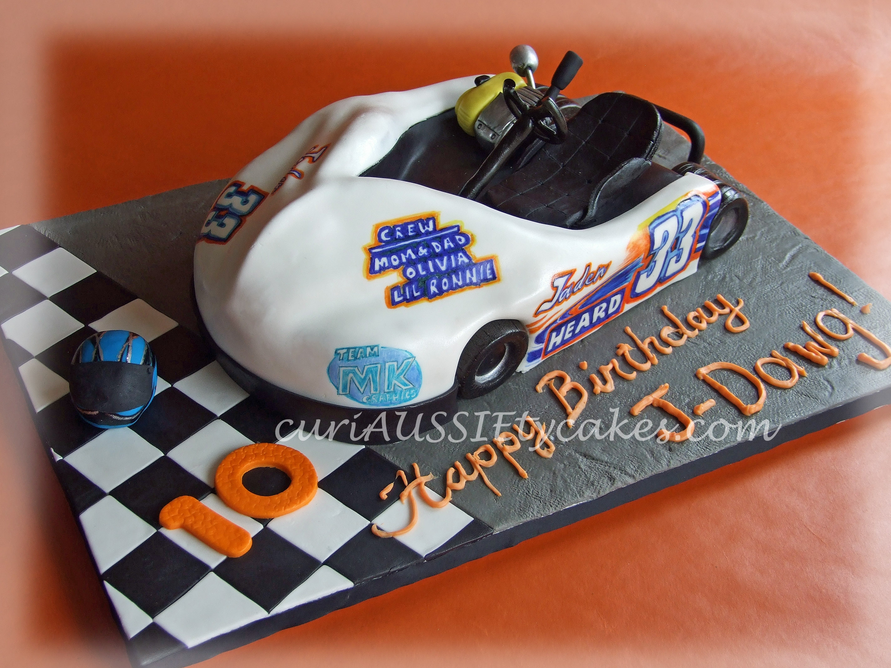 Go-Kart Racing Car Cake - CakeCentral com