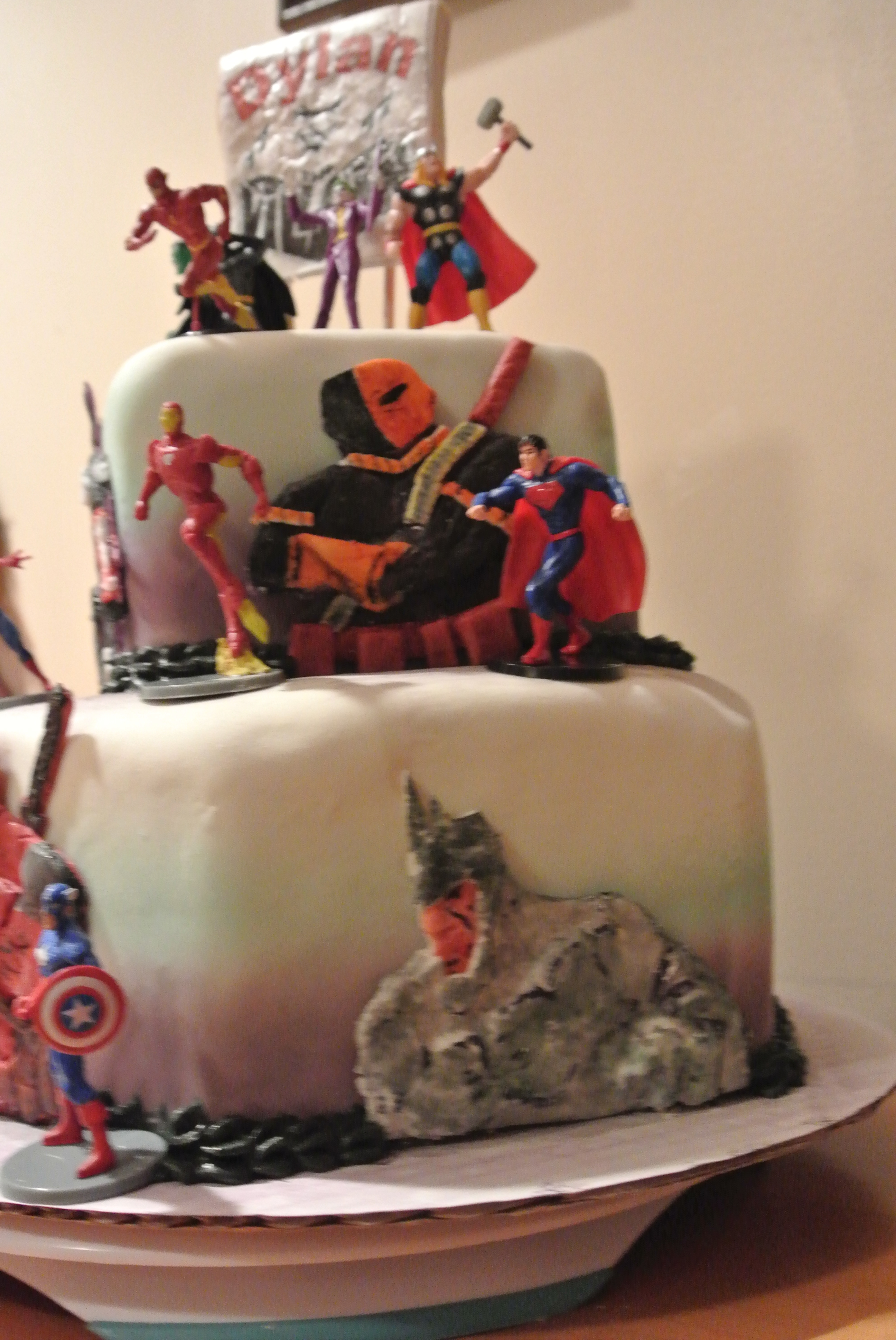 Marvel Vs Dc Comic Cakecentral Com