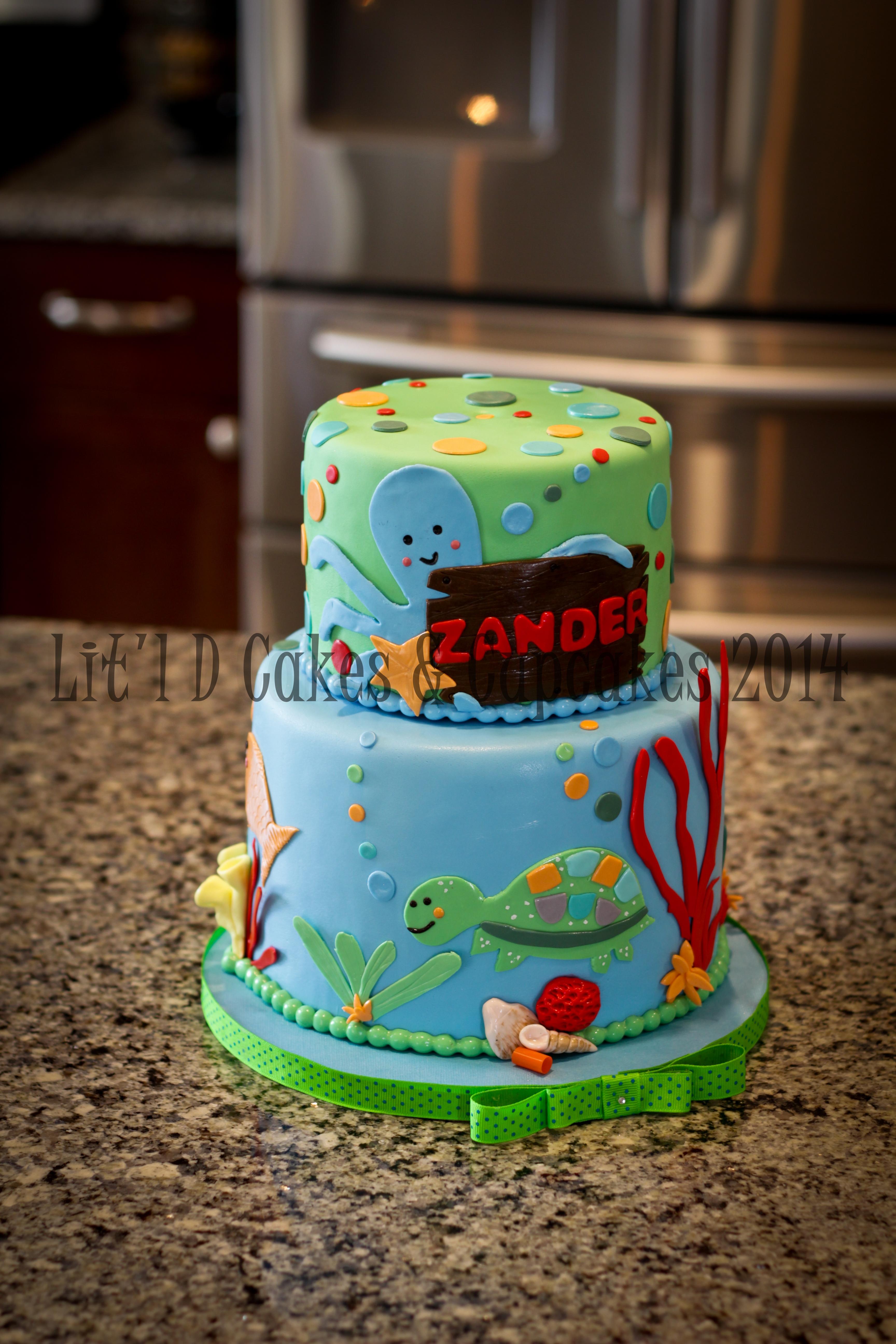 Ocean Themed Birthday Cake
