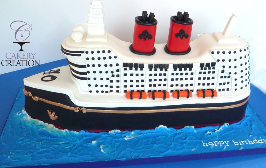 3D Cruise Ship Cake  CakeCentral