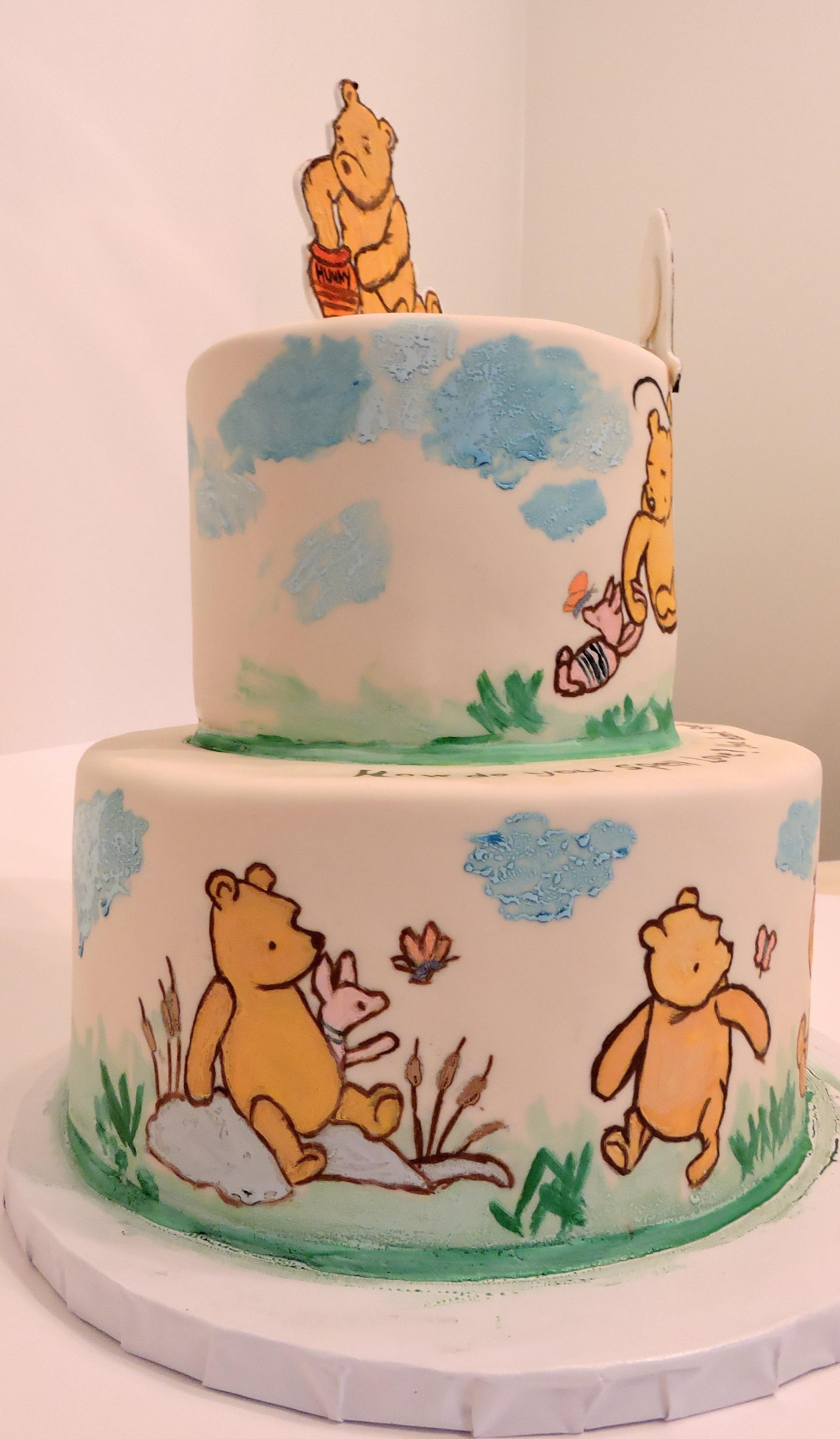 Baby Pooh Birthday Cake