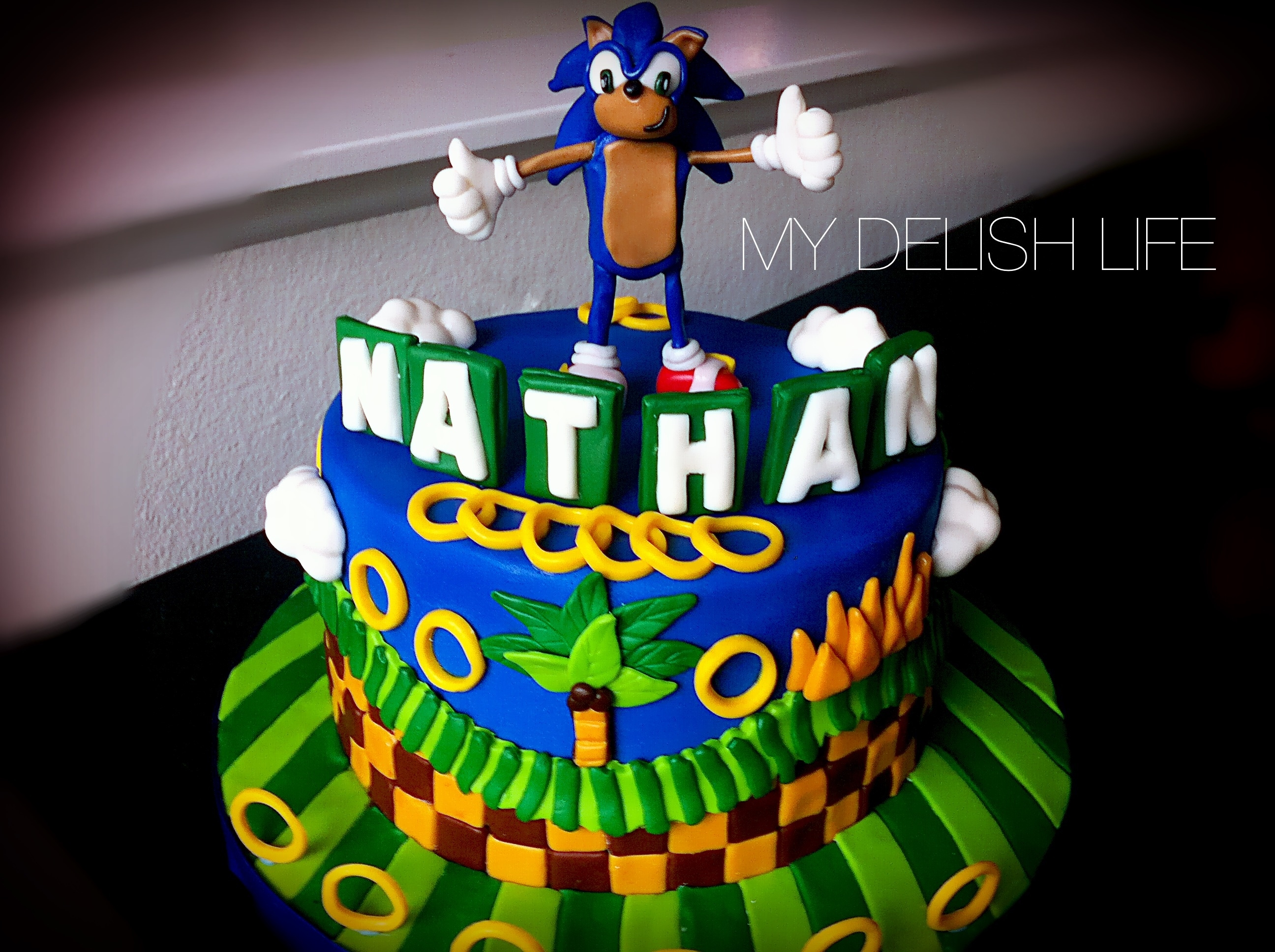 Sonic The Hedgehog Inspired Cake All Edible - CakeCentral.com