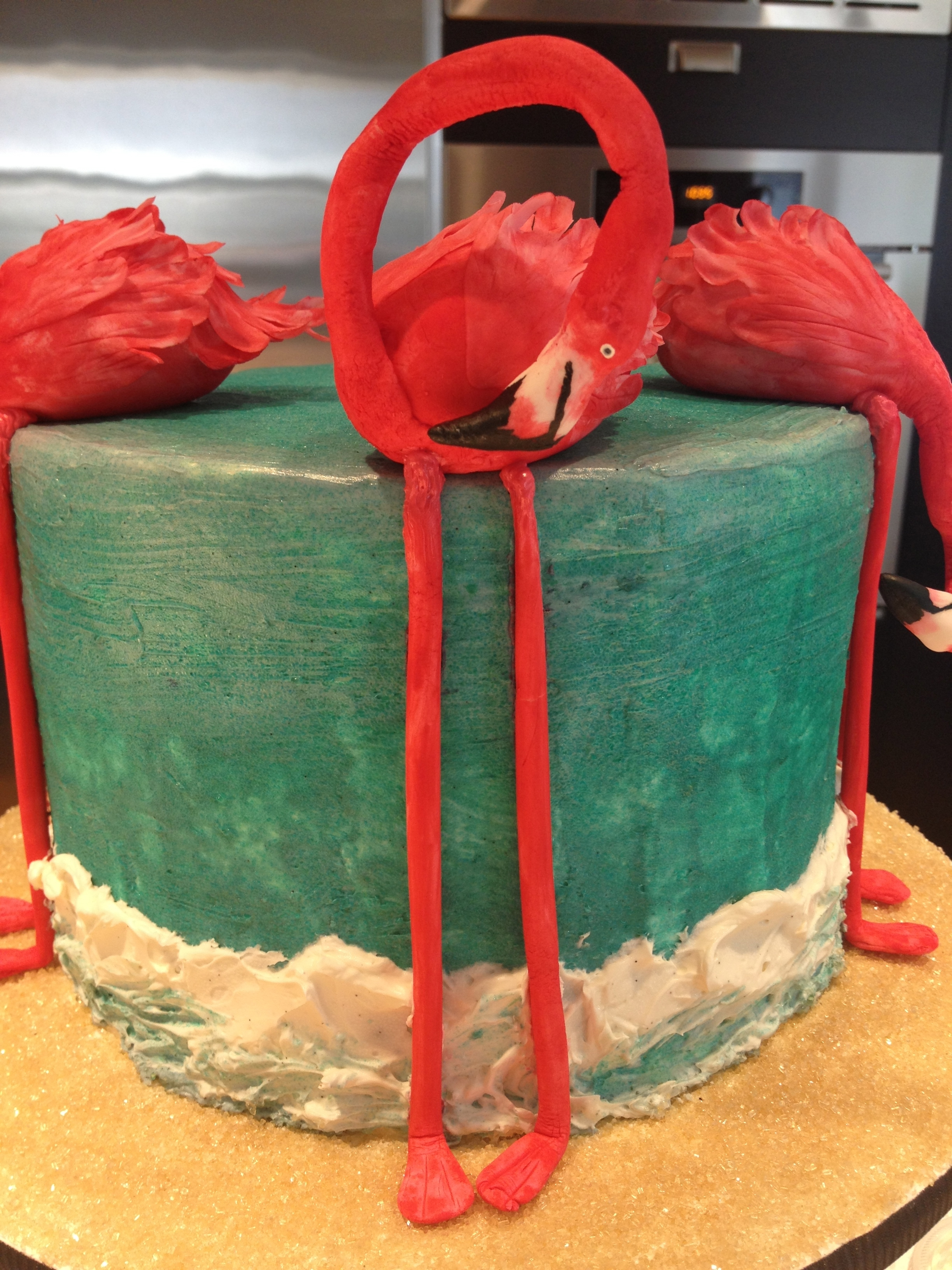Flamingo Cake The Flamingos Are Made Out Of Gumpaste The