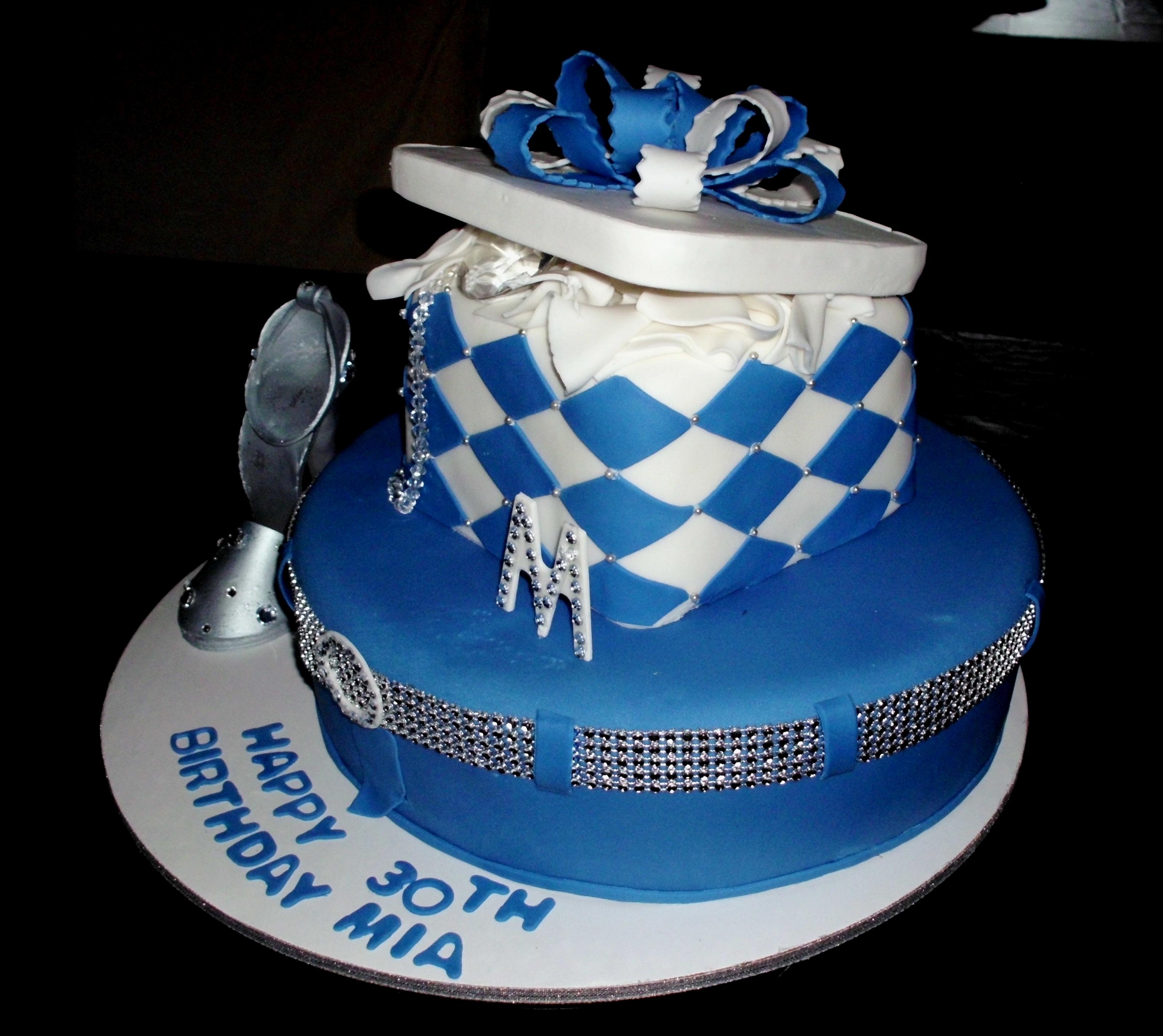 Denim Amp Diamonds Cake Wsilver Amp Bling Shoe ...