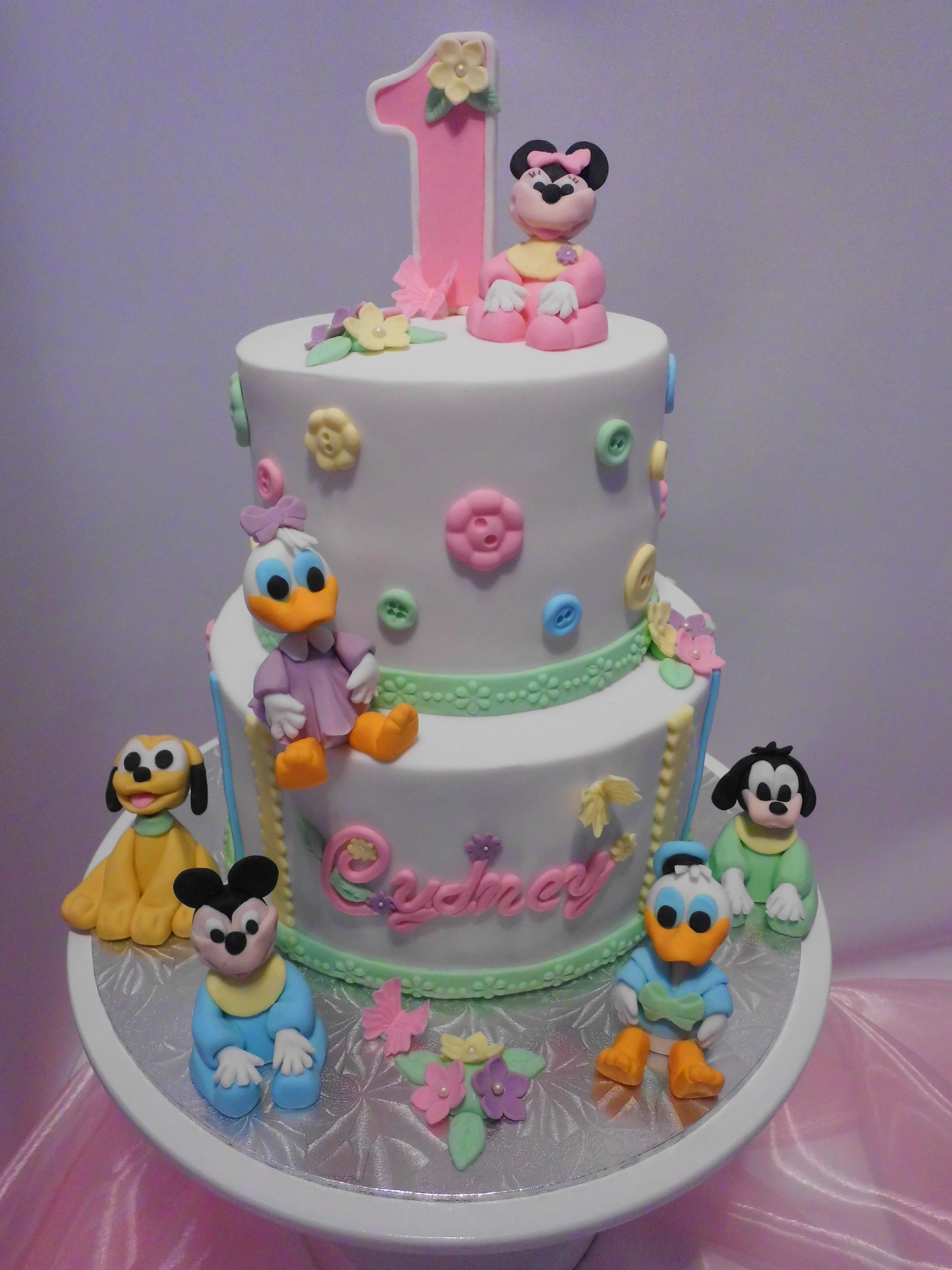 Baby Bday Cake Images : Disney Babies First Birthday Cake - CakeCentral.com