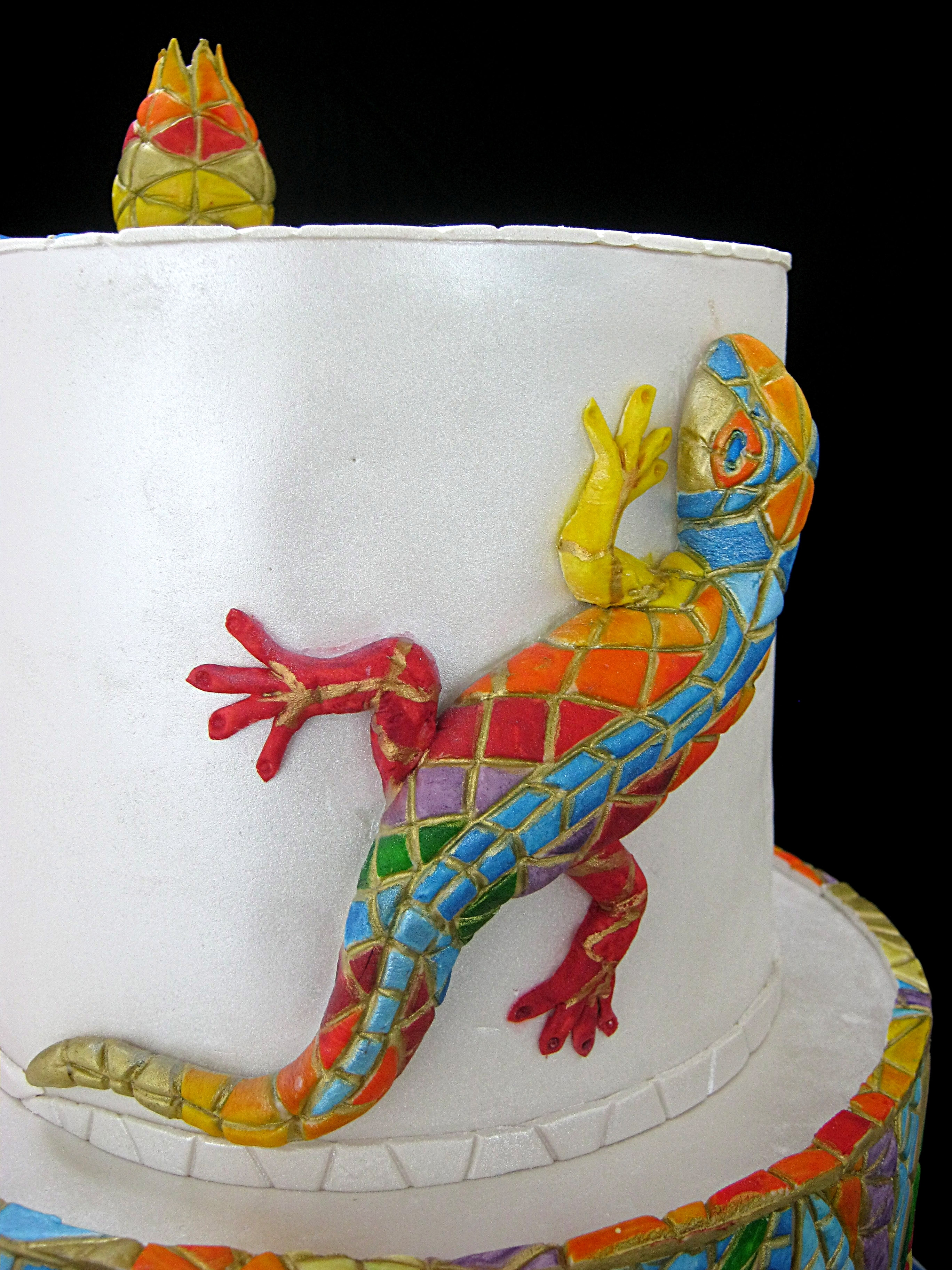 Mosaic Cake Inspired By Gaudi Cakecentral Com