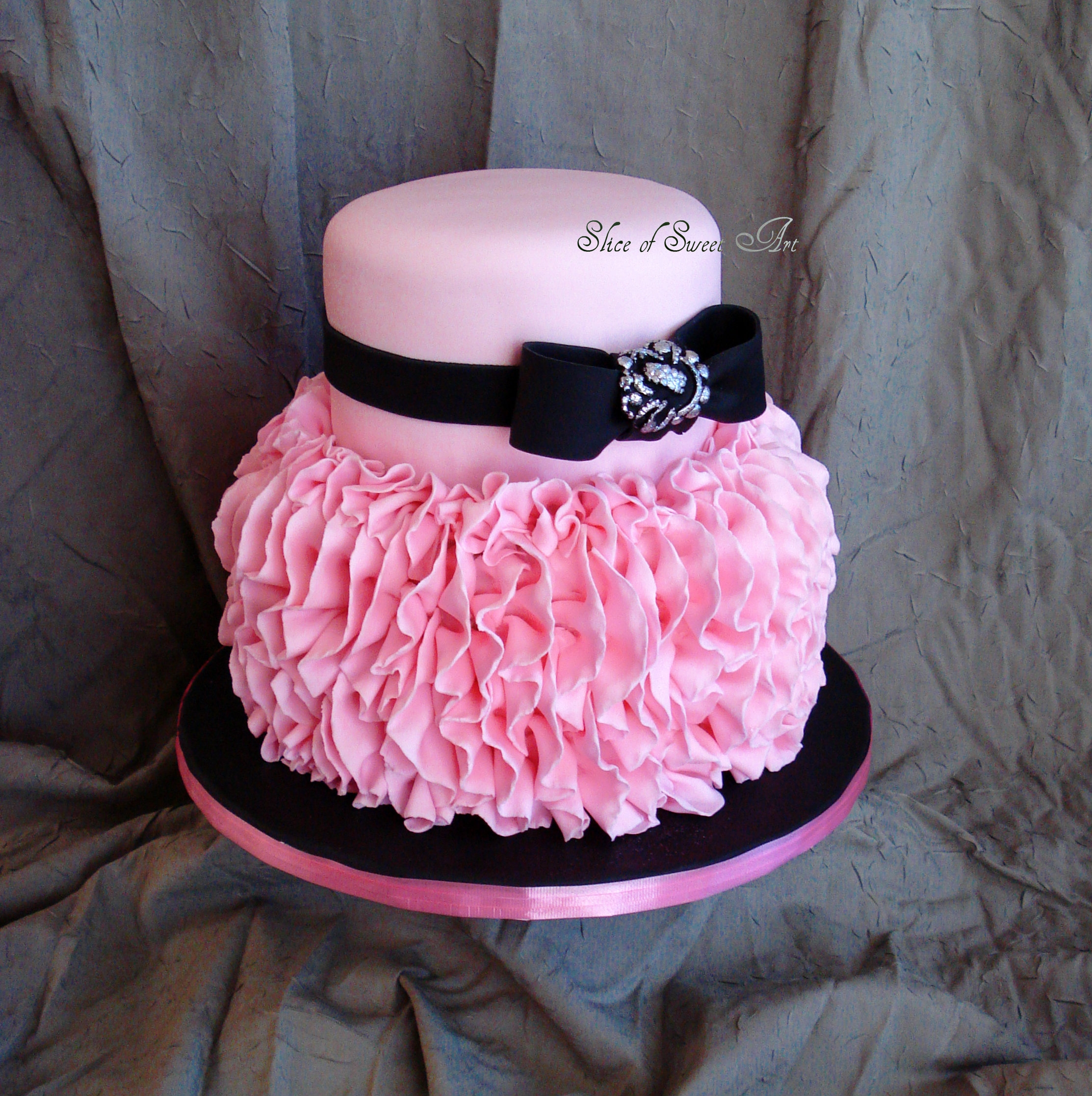 Pink Ruffle Birthday Cakecentral Com