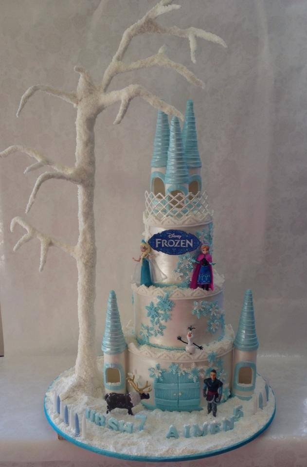Beautiful And Magical Frozen Castle Cake Cakecentral Com