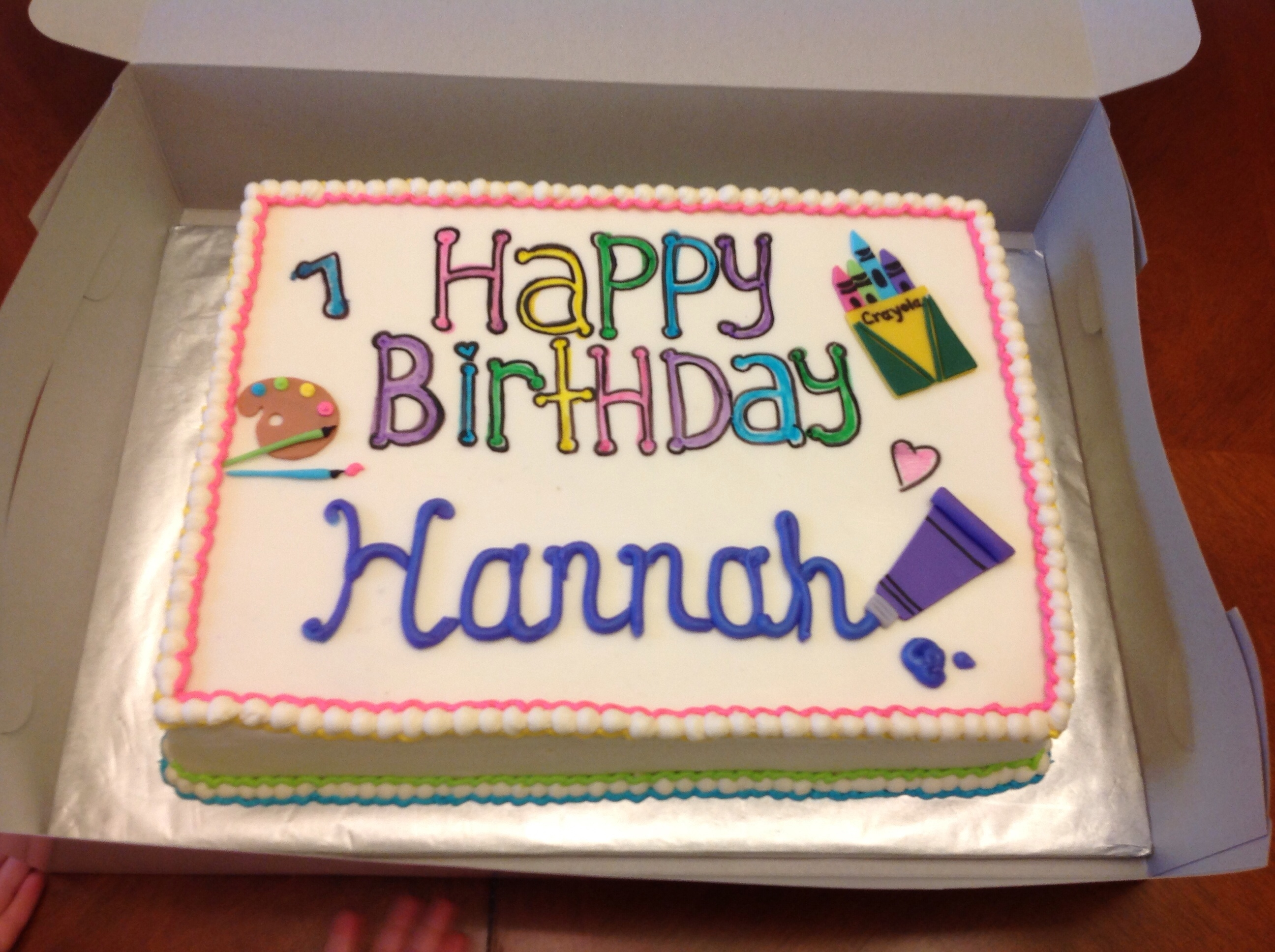 Twinkle Sprinkle Cake Decoration Edible Marker : Fondant Sheet On Top Of Cake With Edible Marker Letters ...