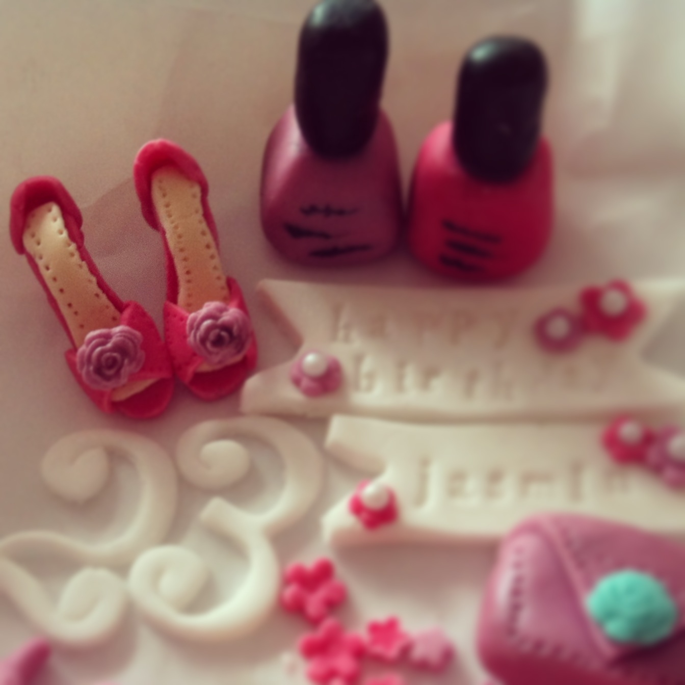 Cake Fondant Nails: Sweet 16 Birthday Cupcakes With All Hand Made Girly Things