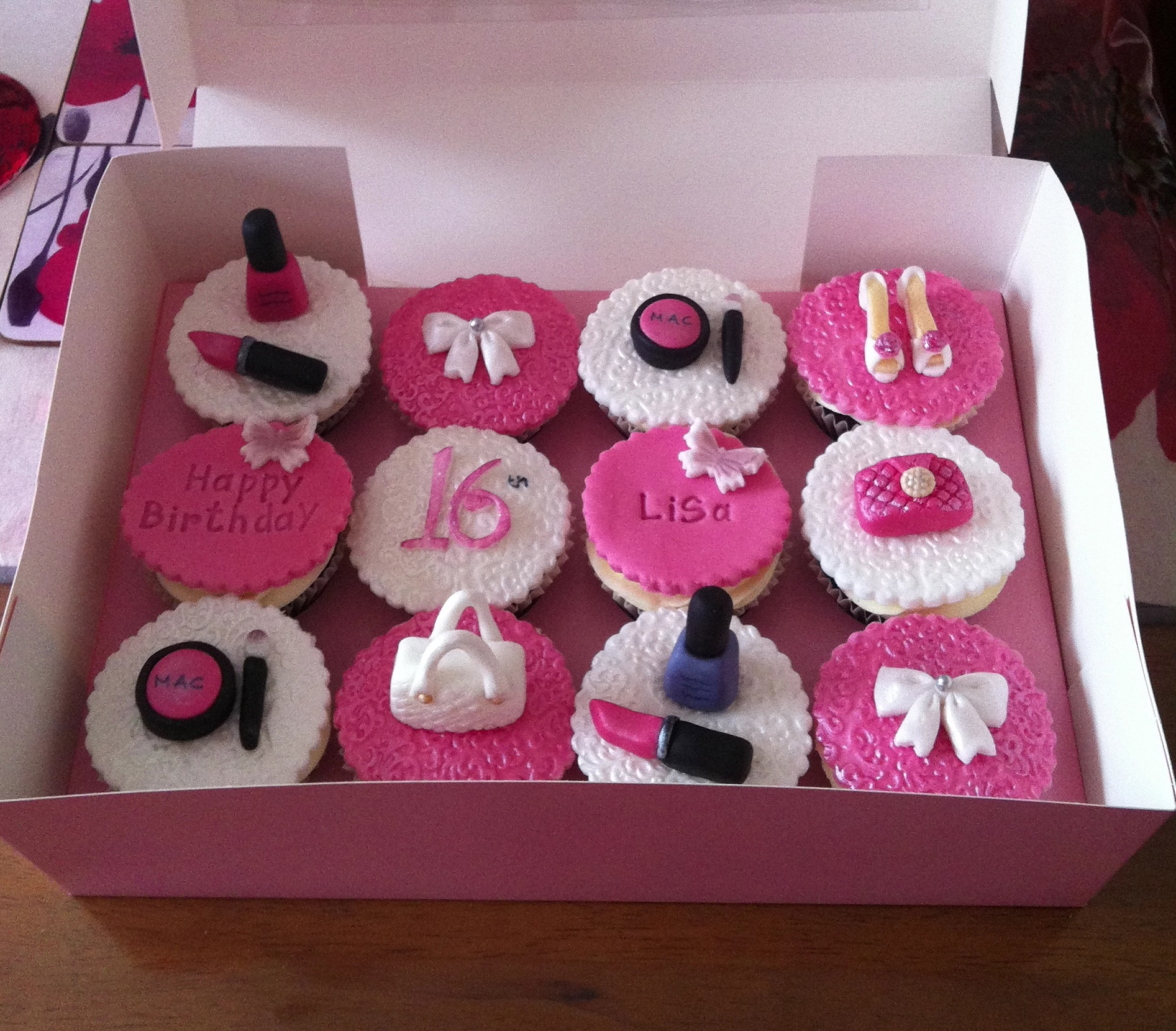 Sweet 16 Birthday Cupcakes With All Hand Made Girly Things