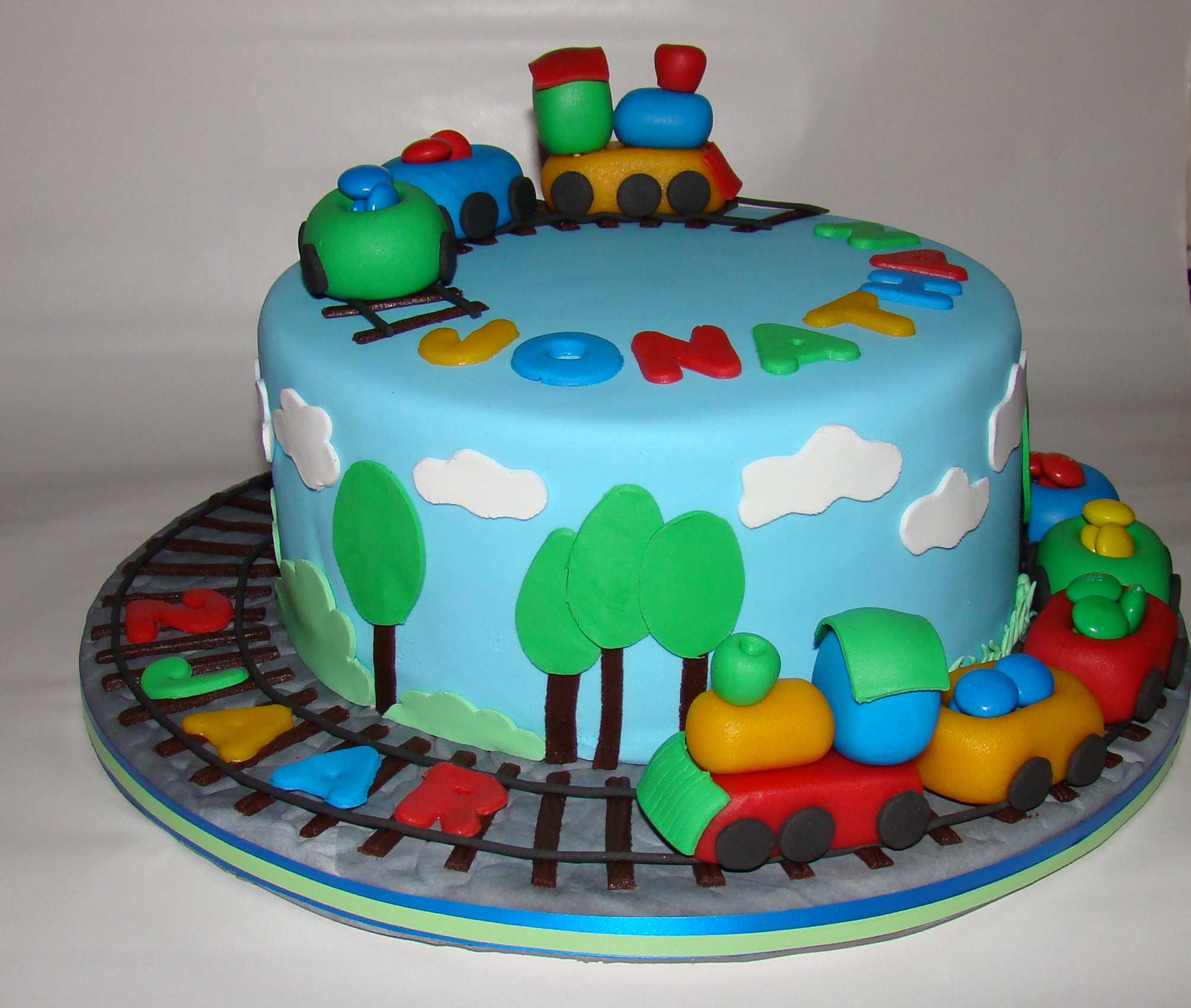 Traincake For A Two Years Old Boy - CakeCentral.com