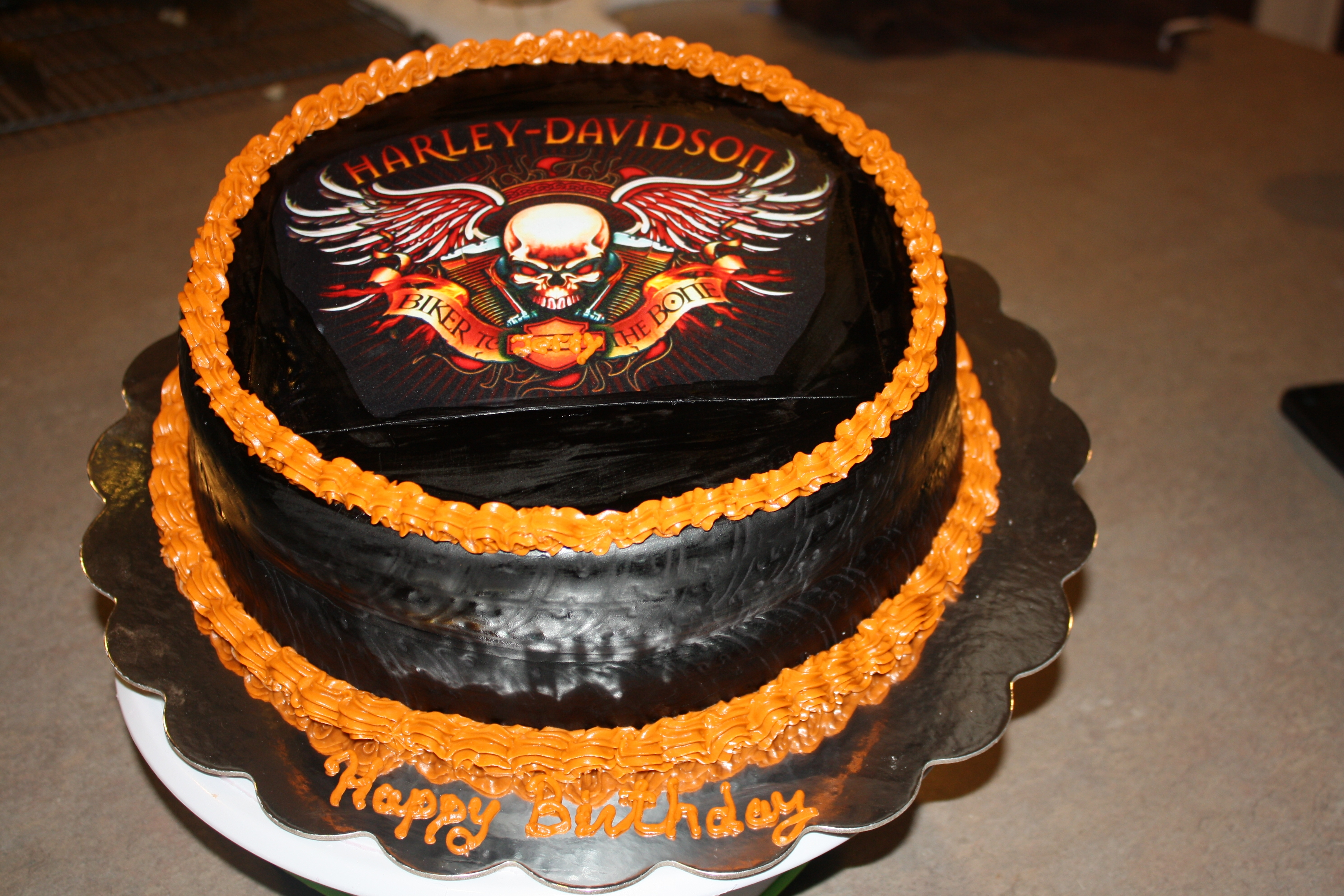Birthday Cake Images For My Husband : Harley Davidson Birthday Cake For My Husband - CakeCentral.com