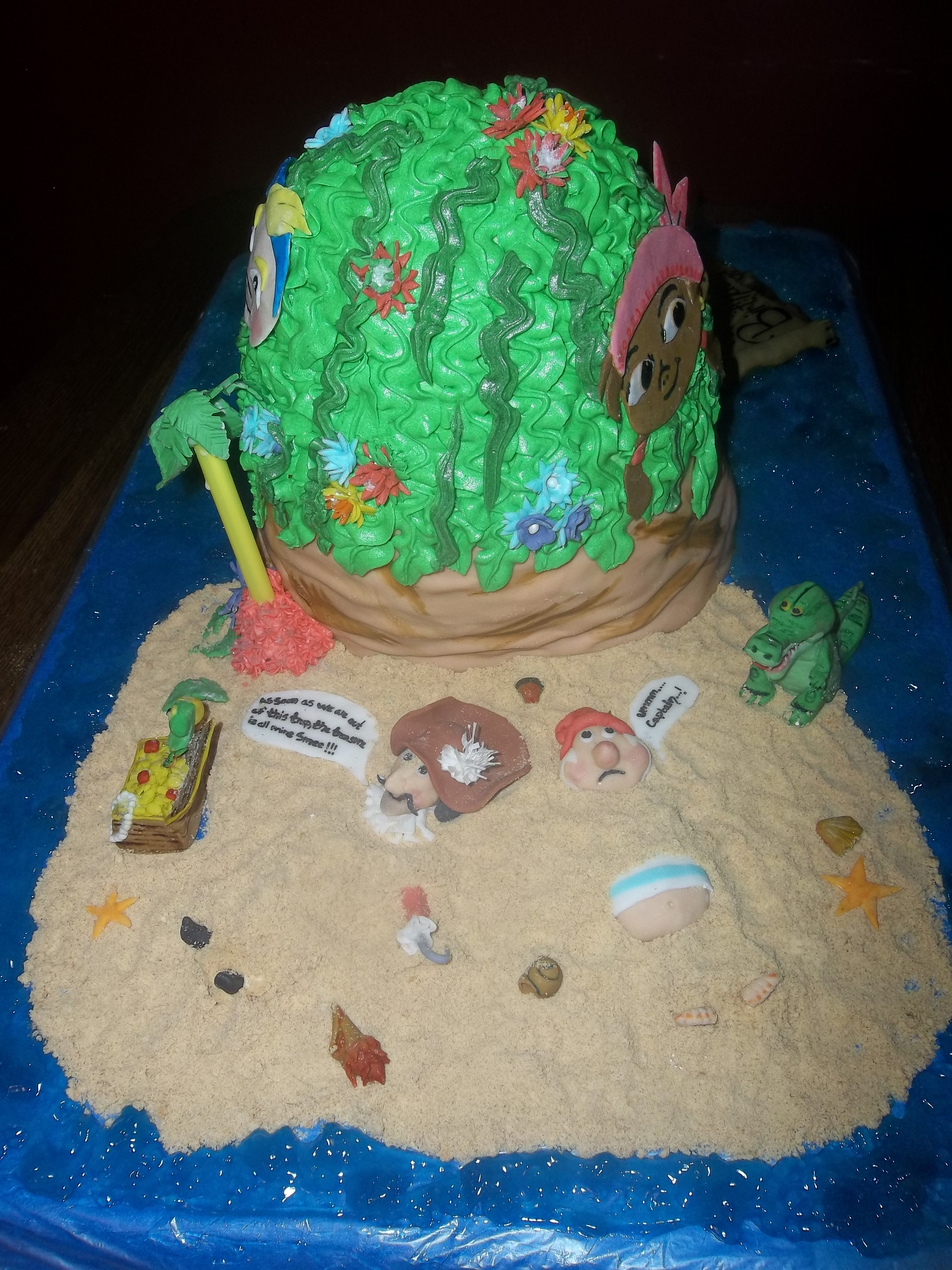 Cake Decorating Making Sand : One Of My First Fondant Birthday Cakes Piping Gel For The ...