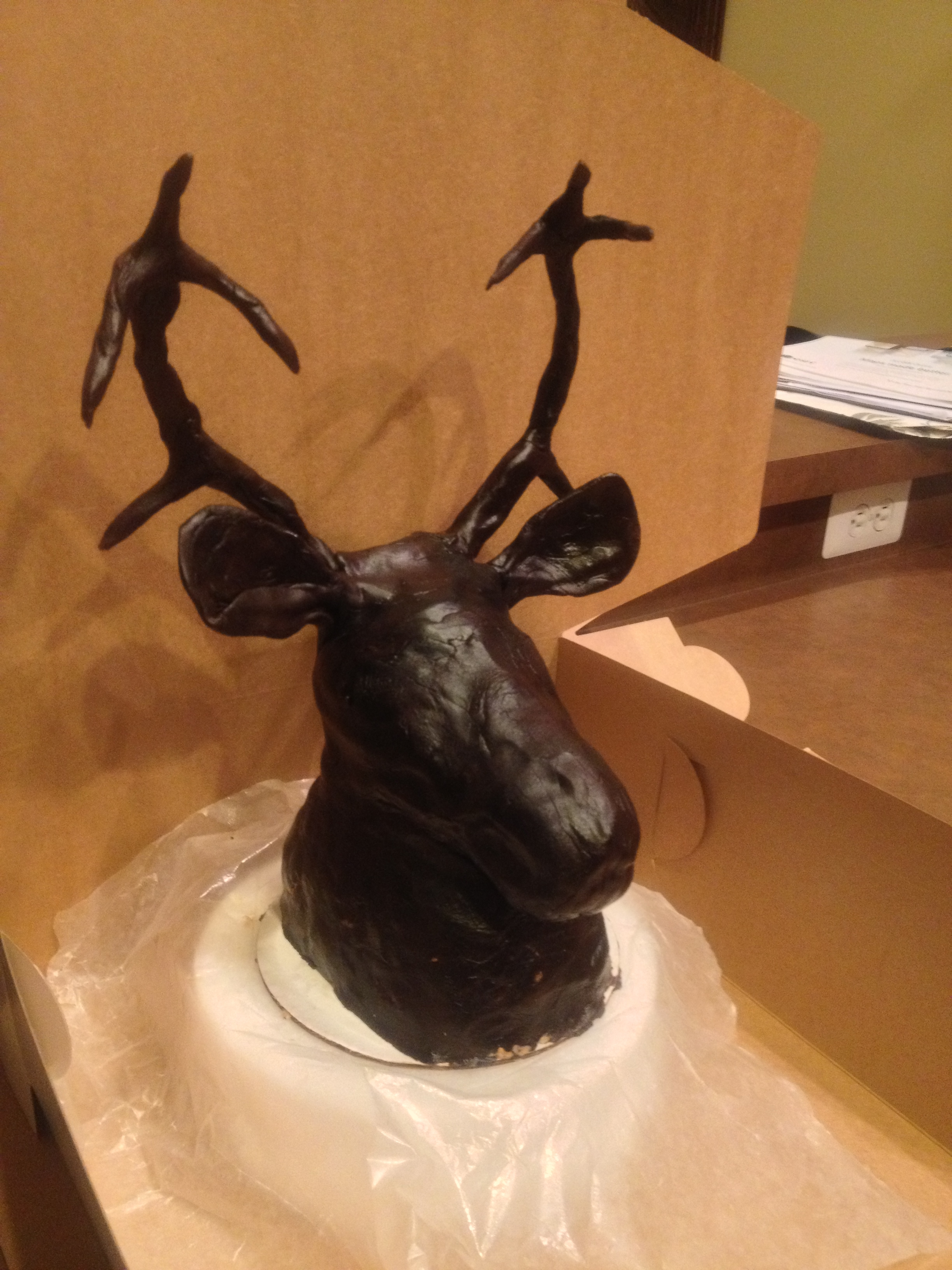 Deer Head Birthday Cake Cakecentral Com