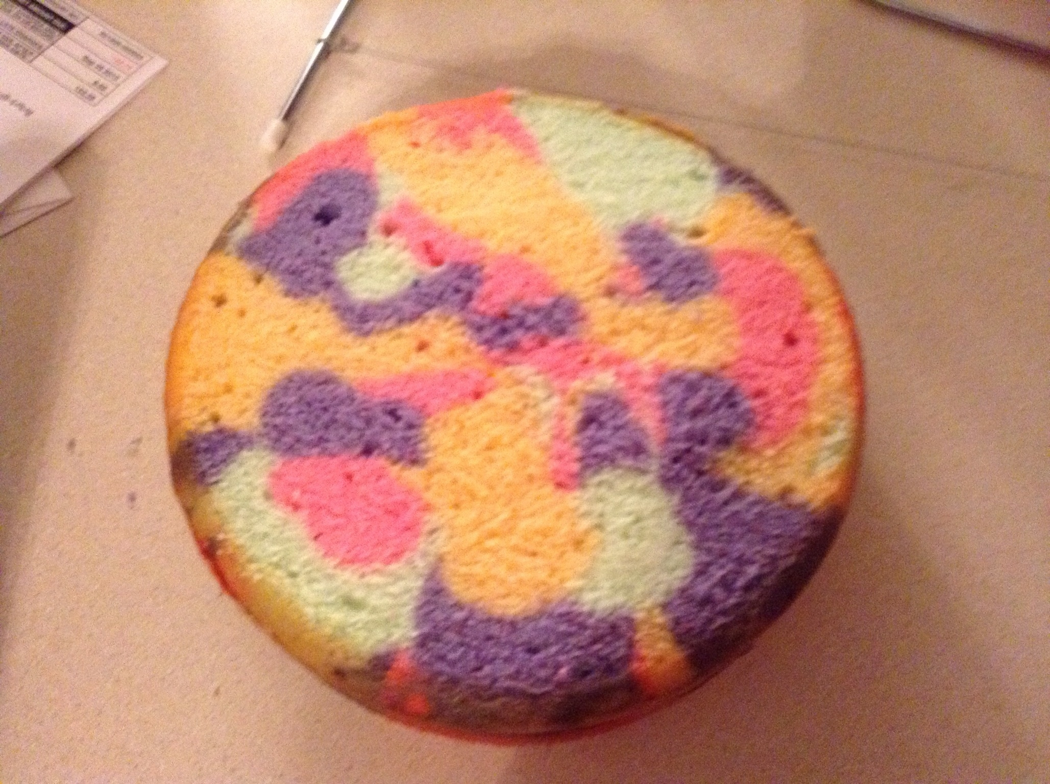 how to make tie dye icing on cake