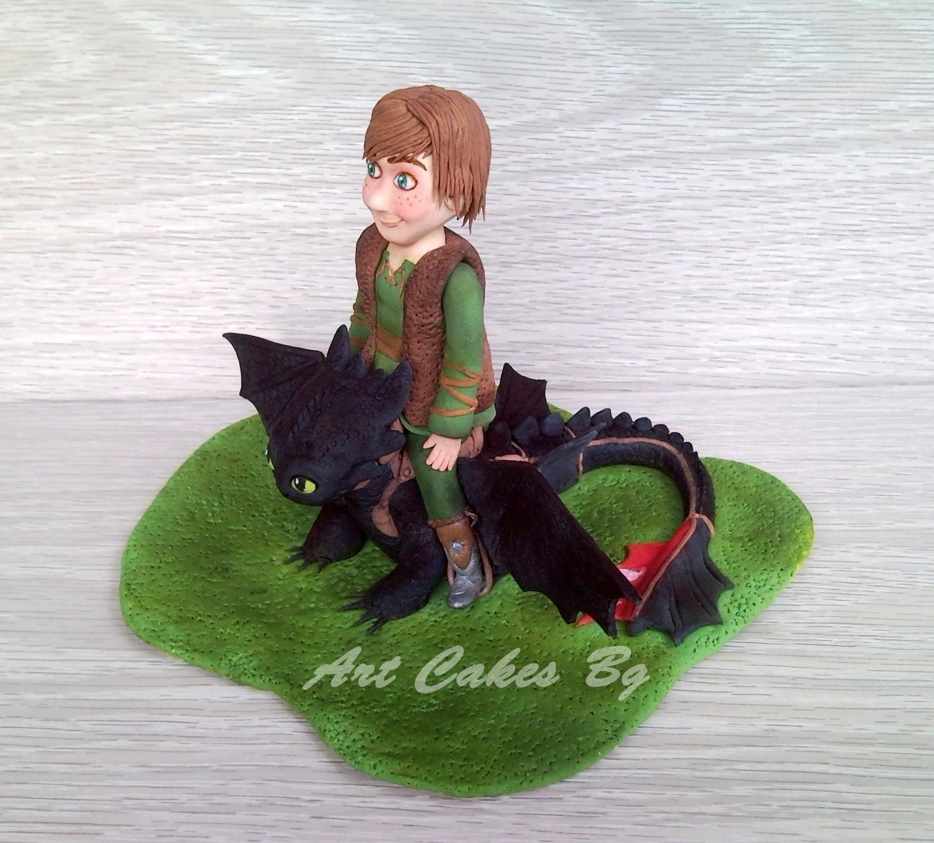 Hiccup And Toothless Cake Topper - CakeCentral.com