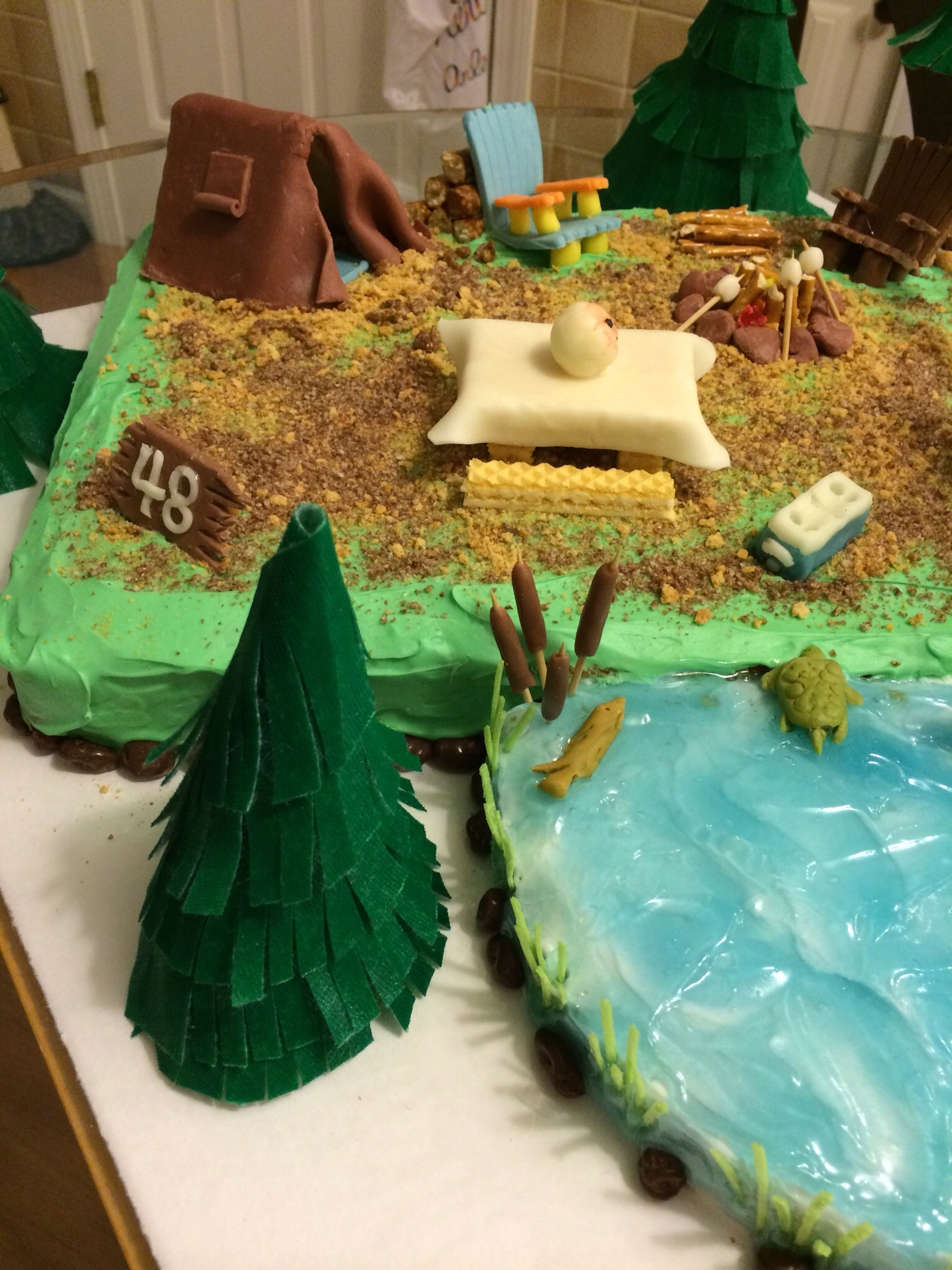 Retirement Camping Theme Cakecentral Com