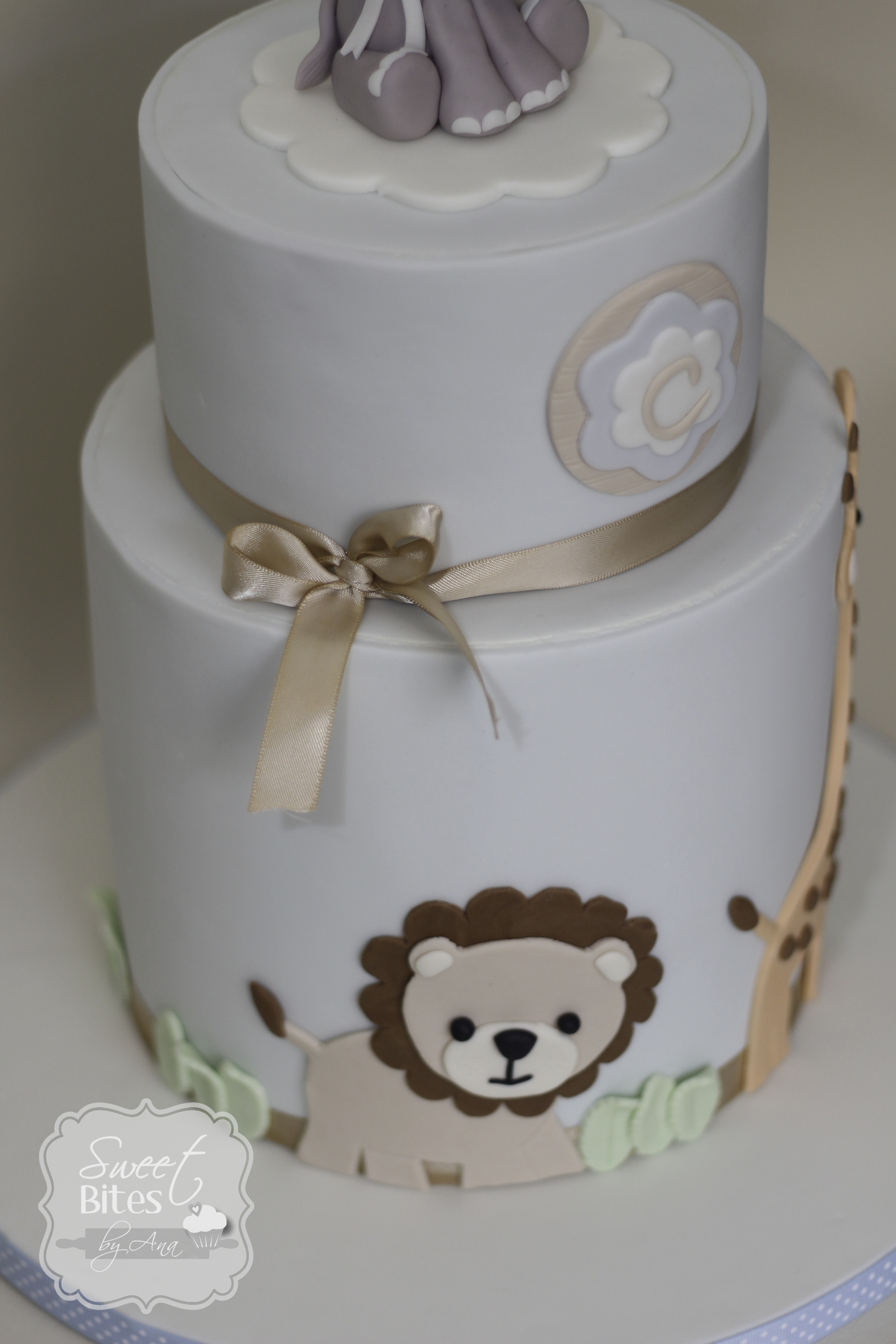 Animal Theme Boy Baby Shower Cake CakeCentral