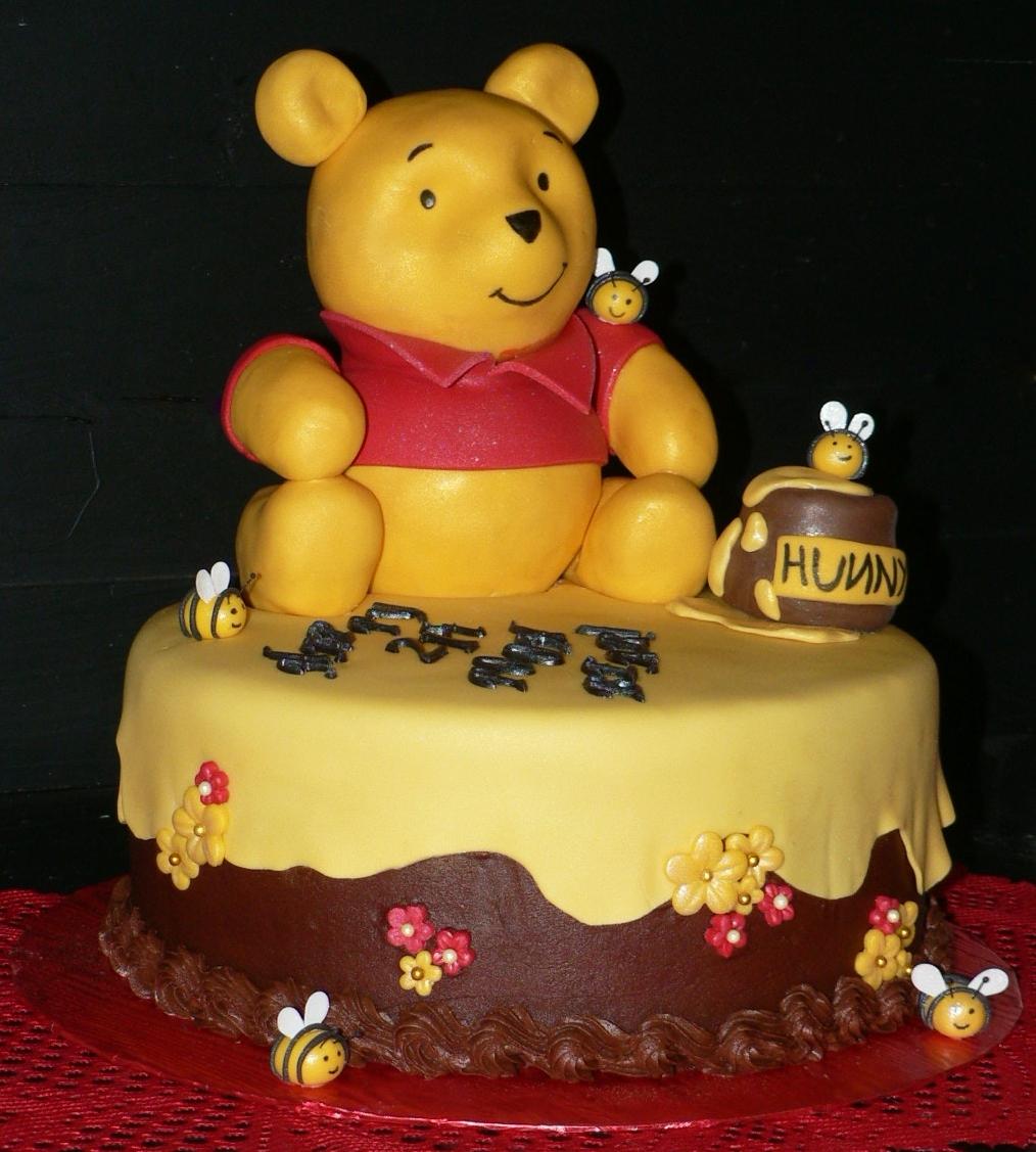 Pooh Bear St Birthday Cake