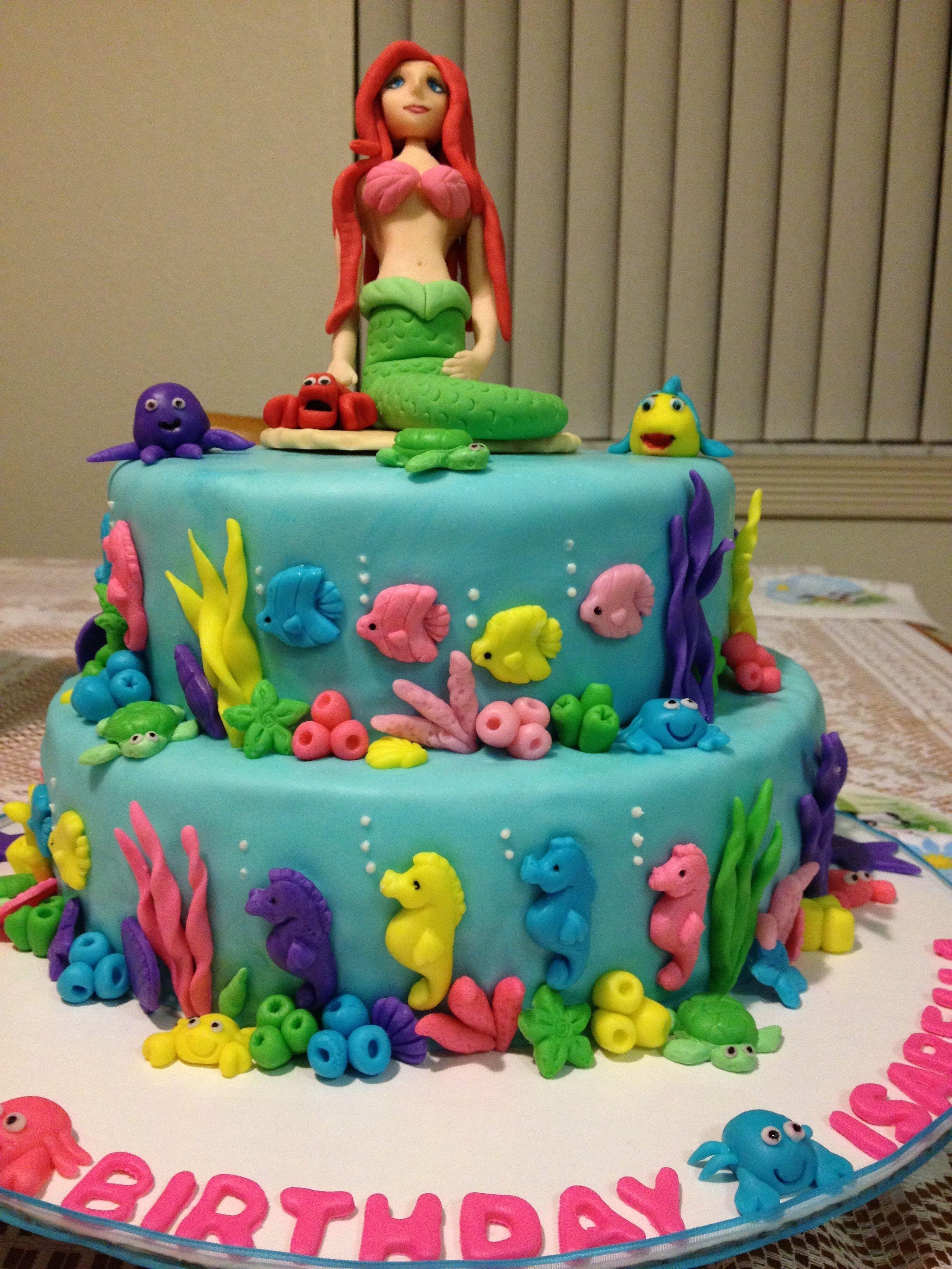 Edible Fondant Mermaid Cake Topper Tutorial