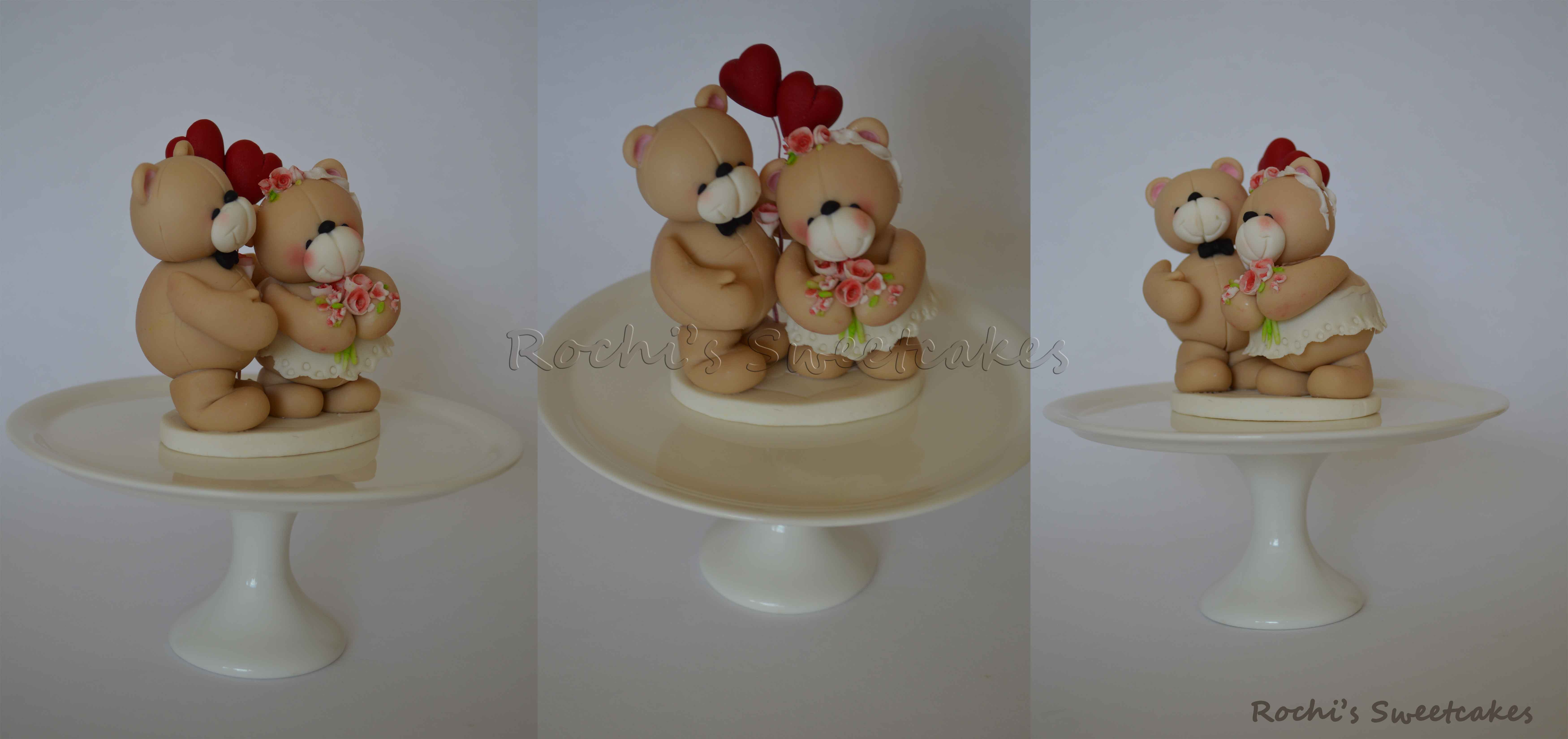 Me To You Bear Wedding Cake Topper