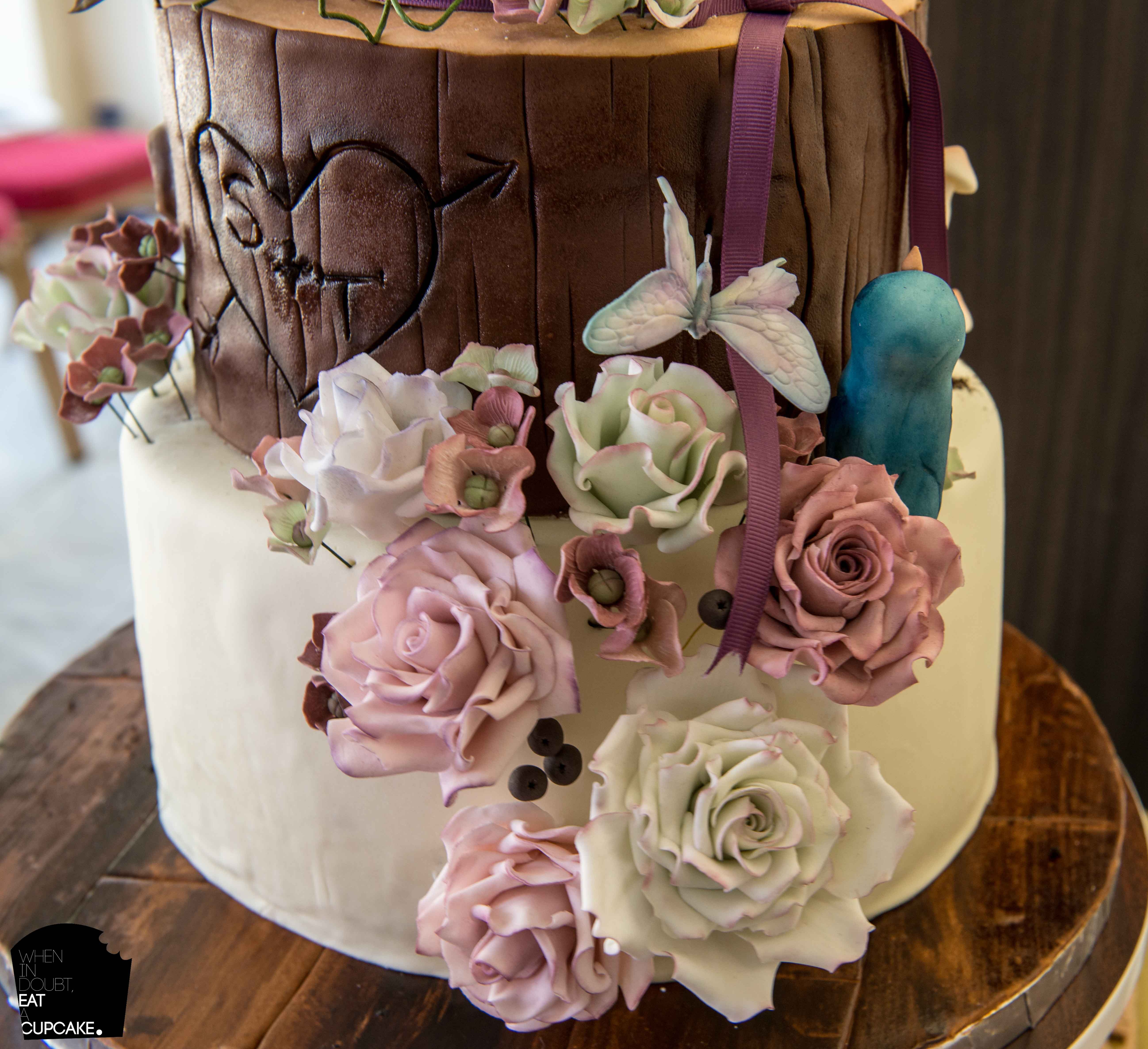 Woodland Theme Wedding Cake! - CakeCentral.com