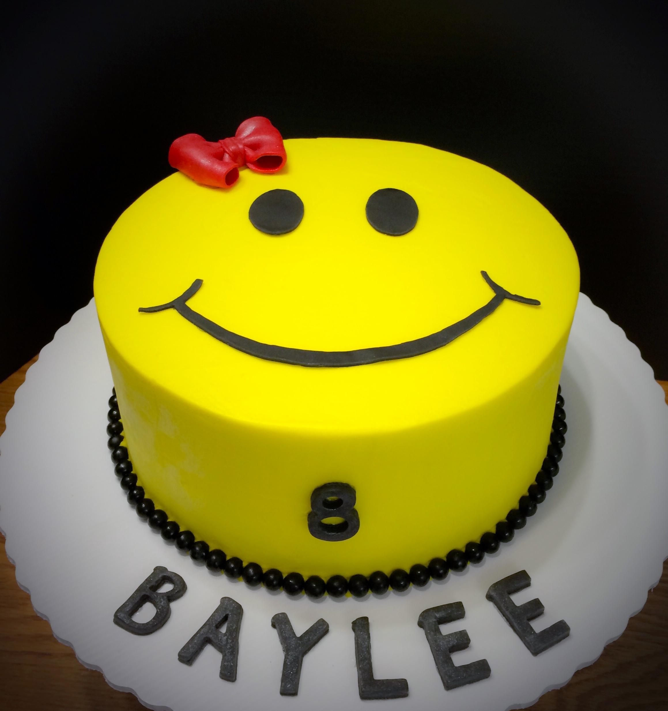 Smiley Face Birthday Cake Cakecentral Com