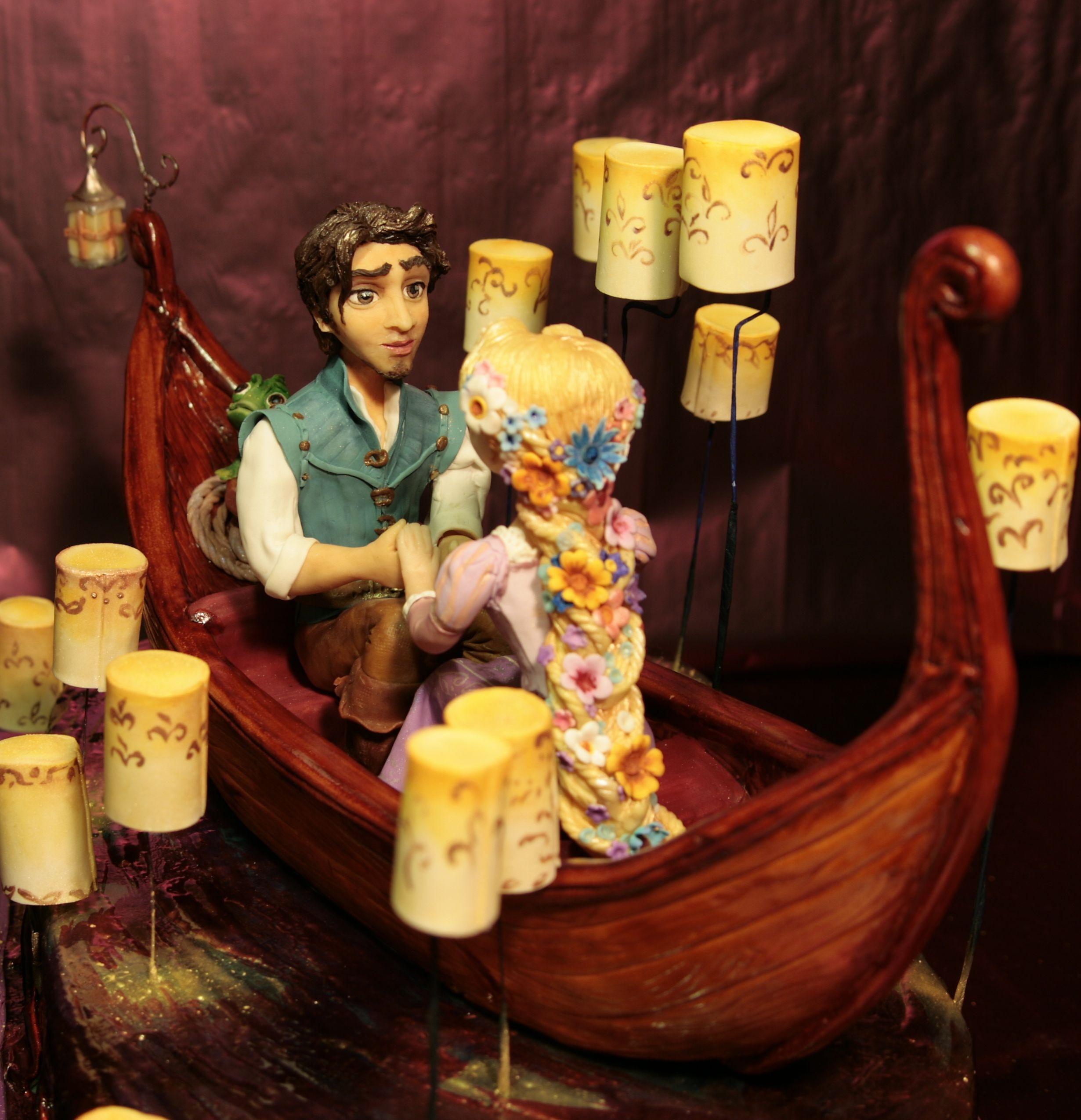 tangled wedding cake topper cake on the rapunzel tangled modeling without the 20753
