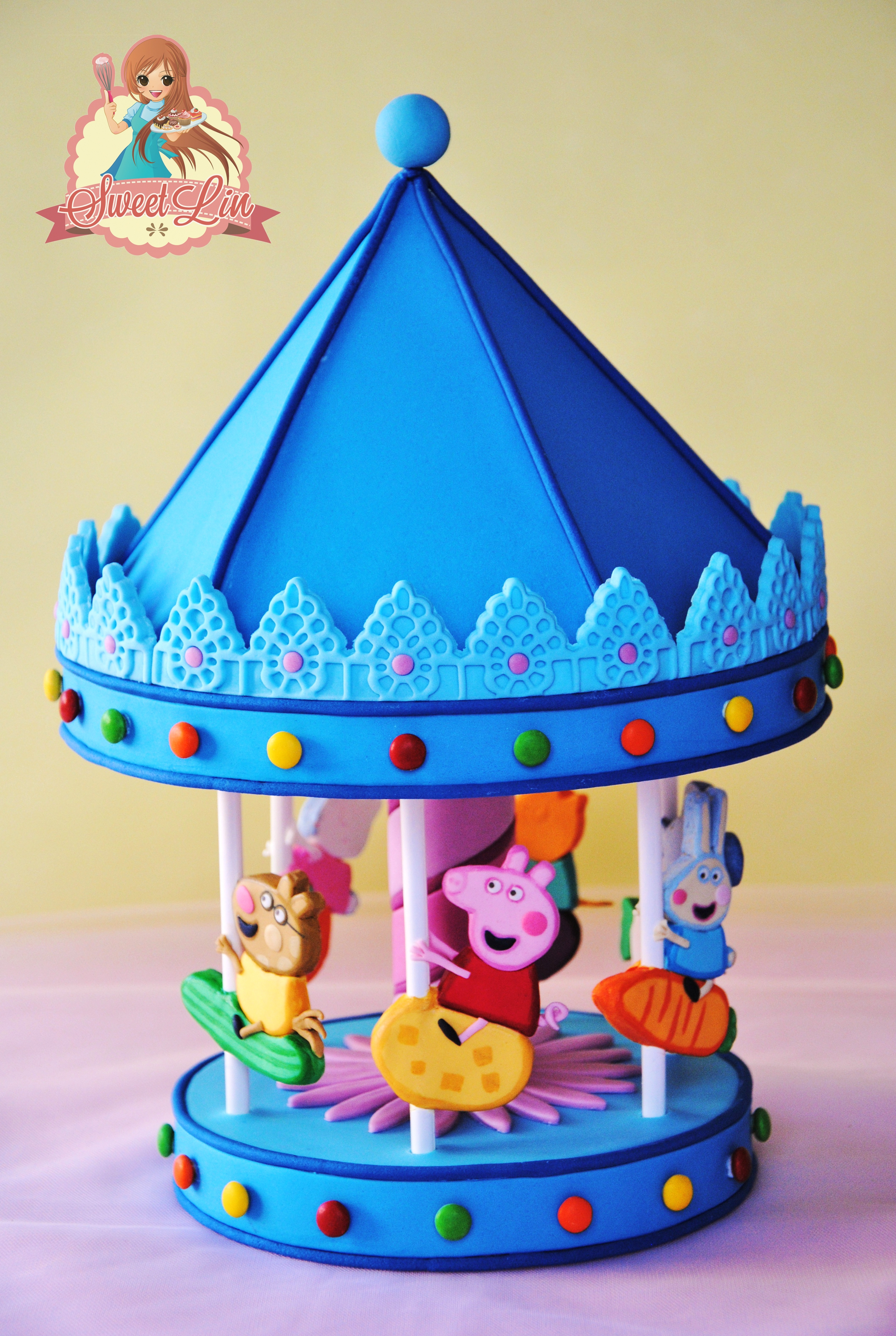 Peppa Pig S Carousel Cake Topper Cakecentral Com