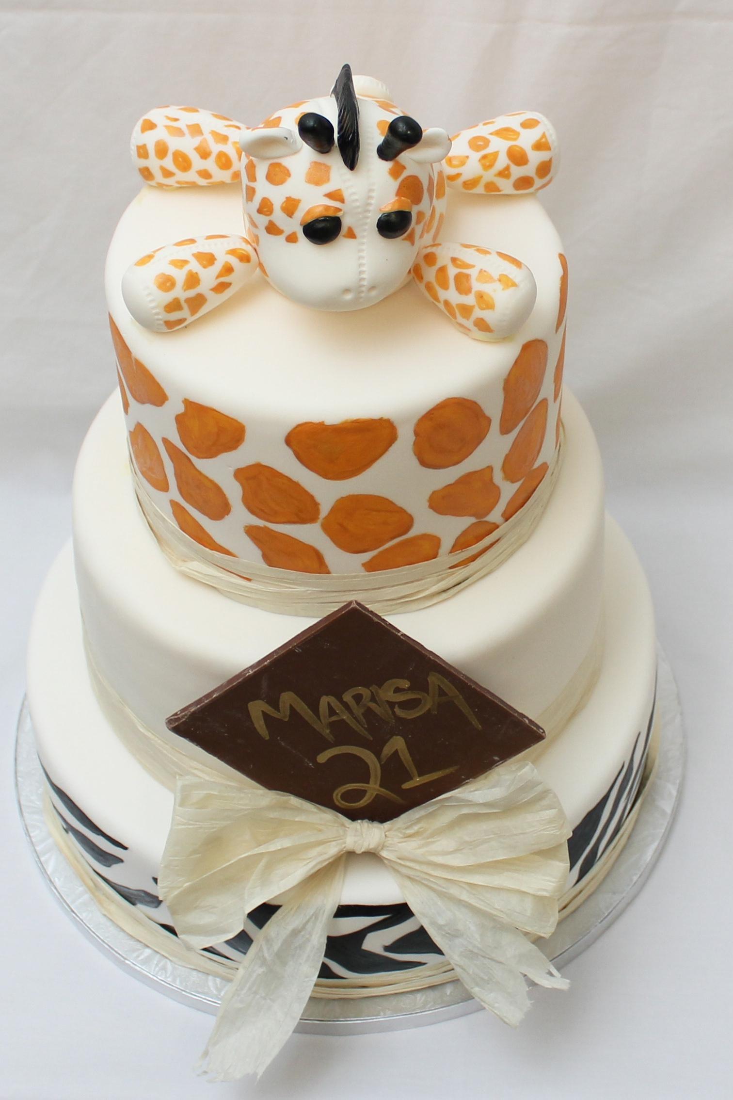 African Themed Birthday Cake By Www Forcakessakenz Com