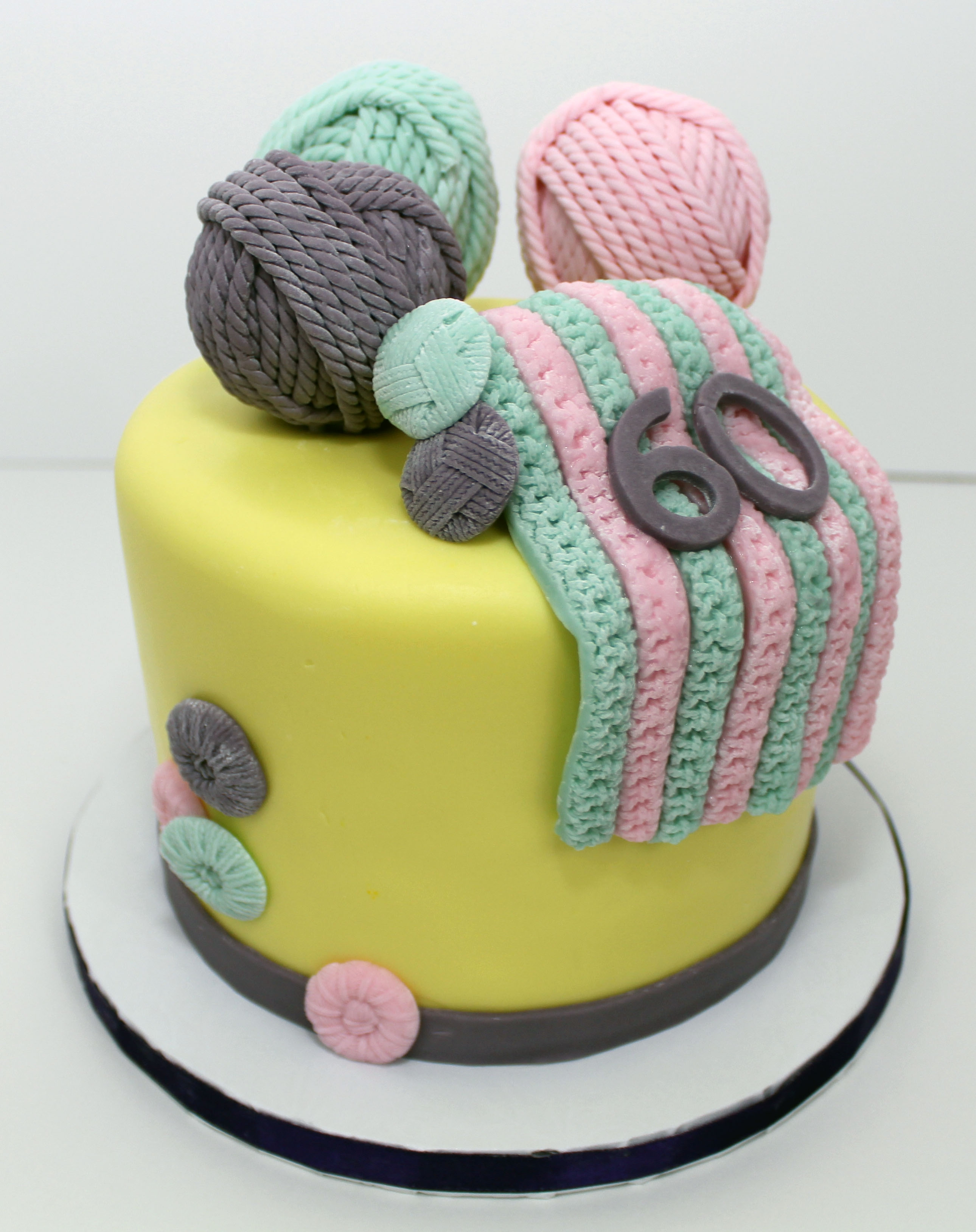 Knitting Cake Decorations : Knitting theme birthday cake cakecentral