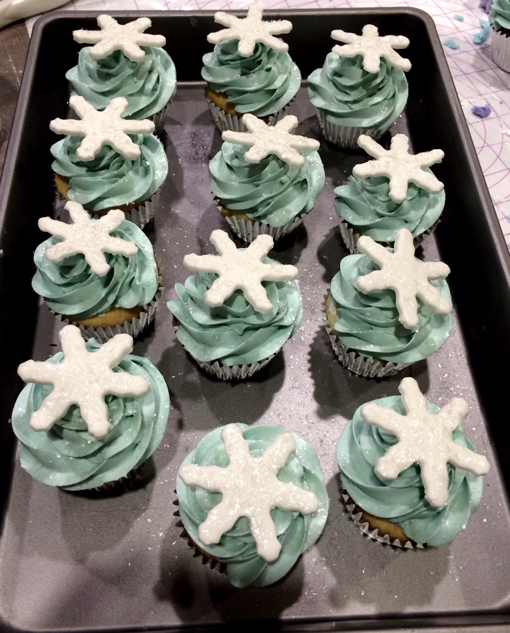 Frozen Cupcakes Snowflake Frozen Themed Cake For...