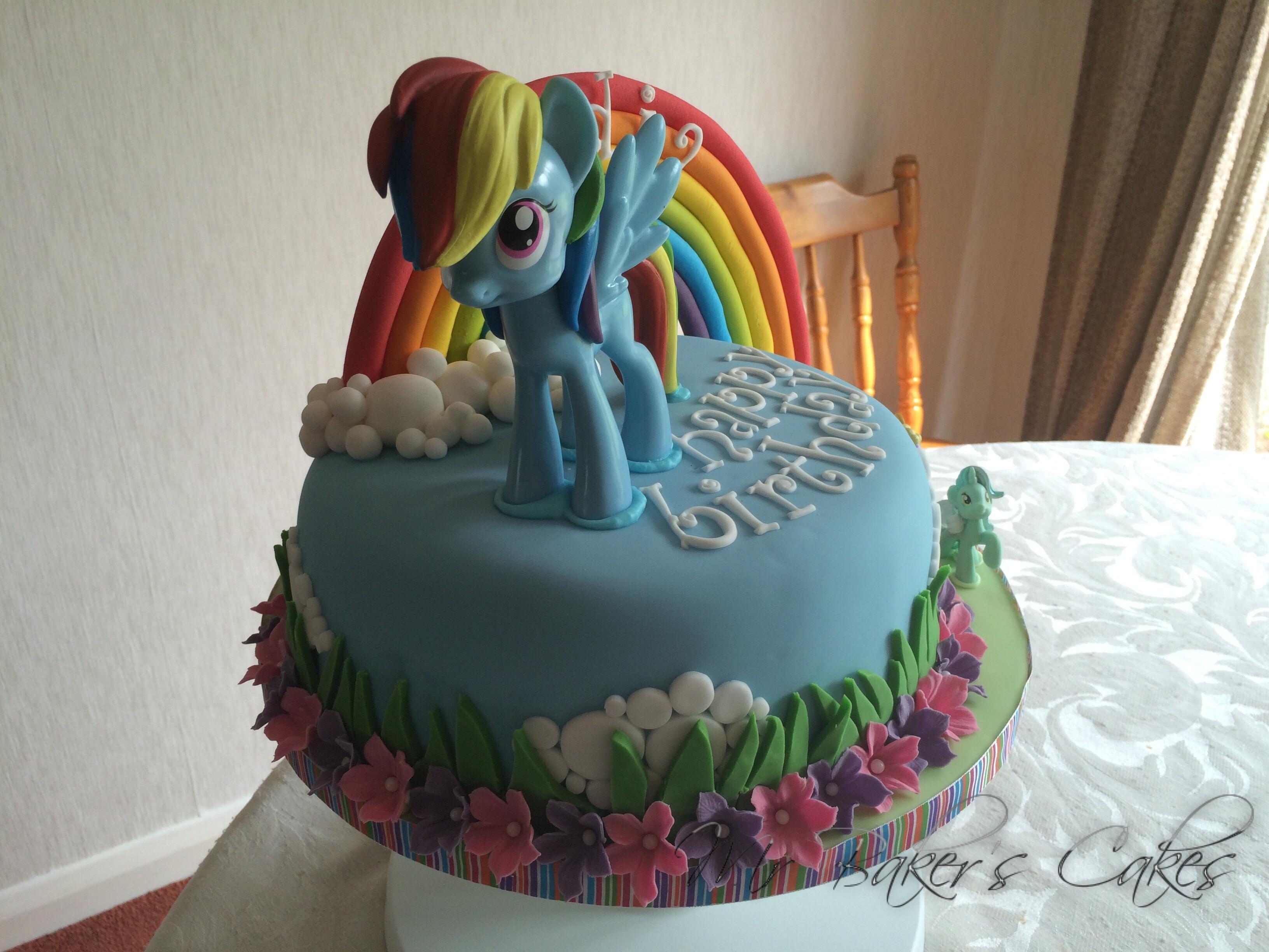 Rainbow Dash Cake Design : My Little Pony - Rainbow Dash Cake - CakeCentral.com