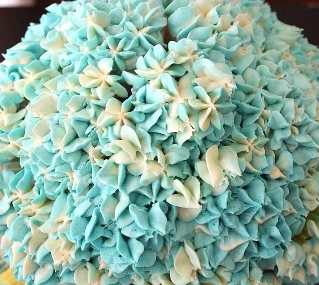 Hydrangea cupcake bouquet cakecentral